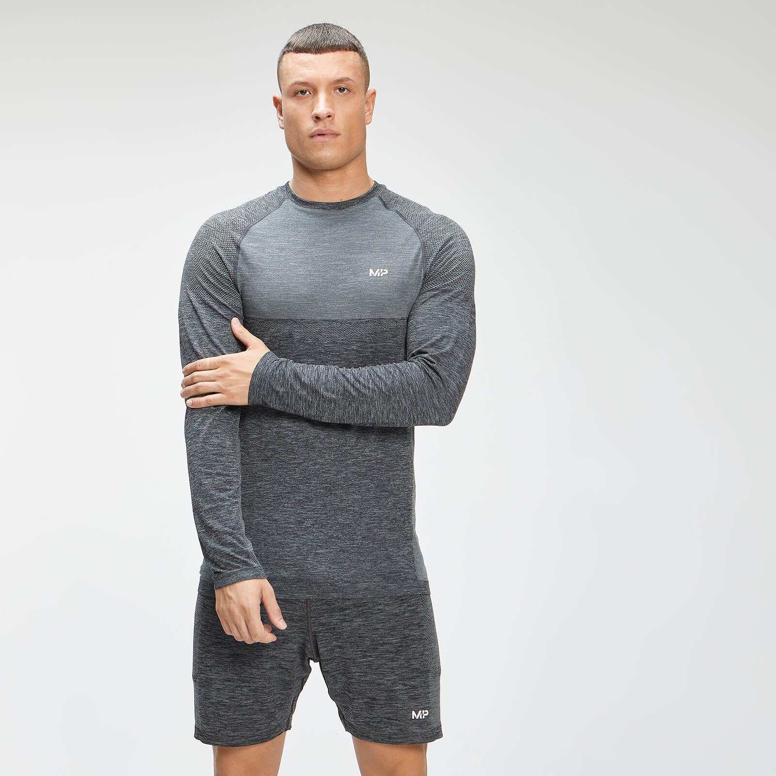 Купить MP Men's Essential Seamless Long Sleeve Top - Black Marl - XS, Myprotein International