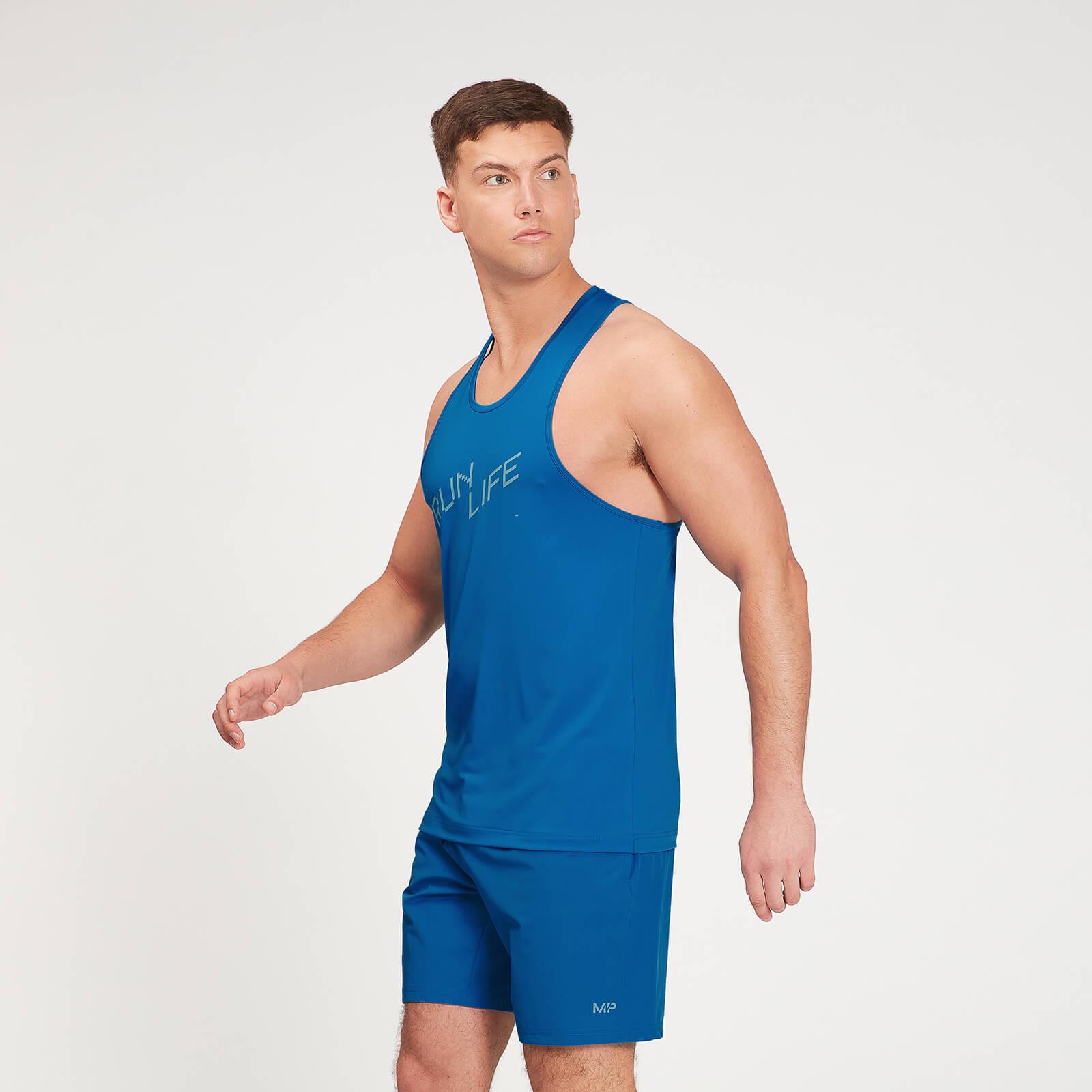 Купить MP Men's Graphic Running Tank Top - True Blue - XL, Myprotein International