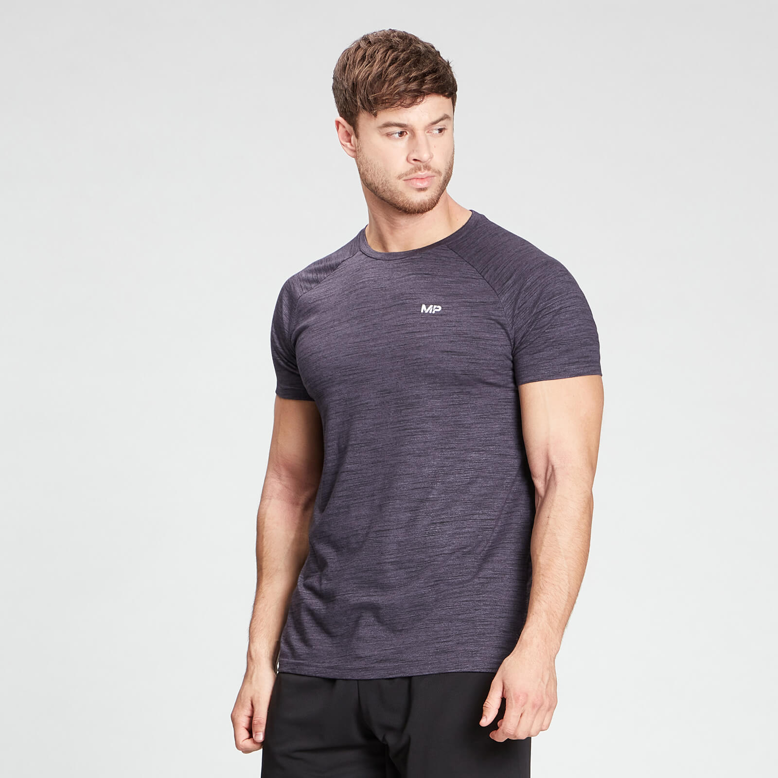 Купить MP Men's Performance Short Sleeve T-Shirt - Smokey Purple Marl - XXXL, Myprotein International