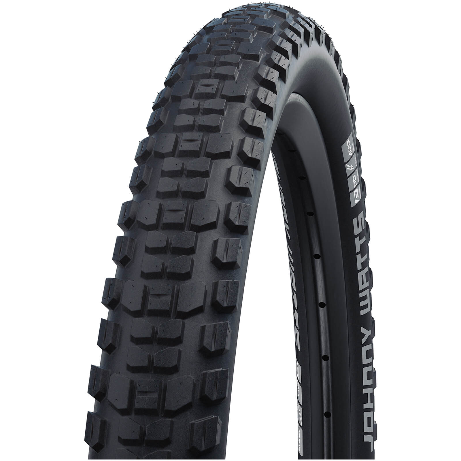 Schwalbe Johnny Watts Performance DD RaceGuard Tubeless MTB Tyre - Black - 27.5in x 2.80in - Black Reflex