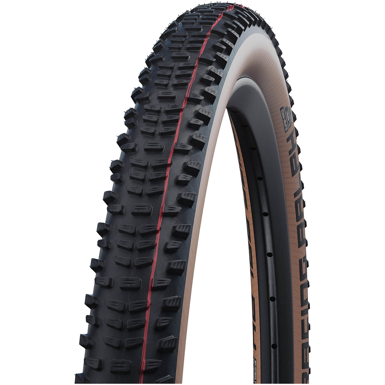 Cycling Schwalbe Racing Ralph Evo Super Race Tubeless MTB Tyre - Transparent Skin - 29in x 2.25in