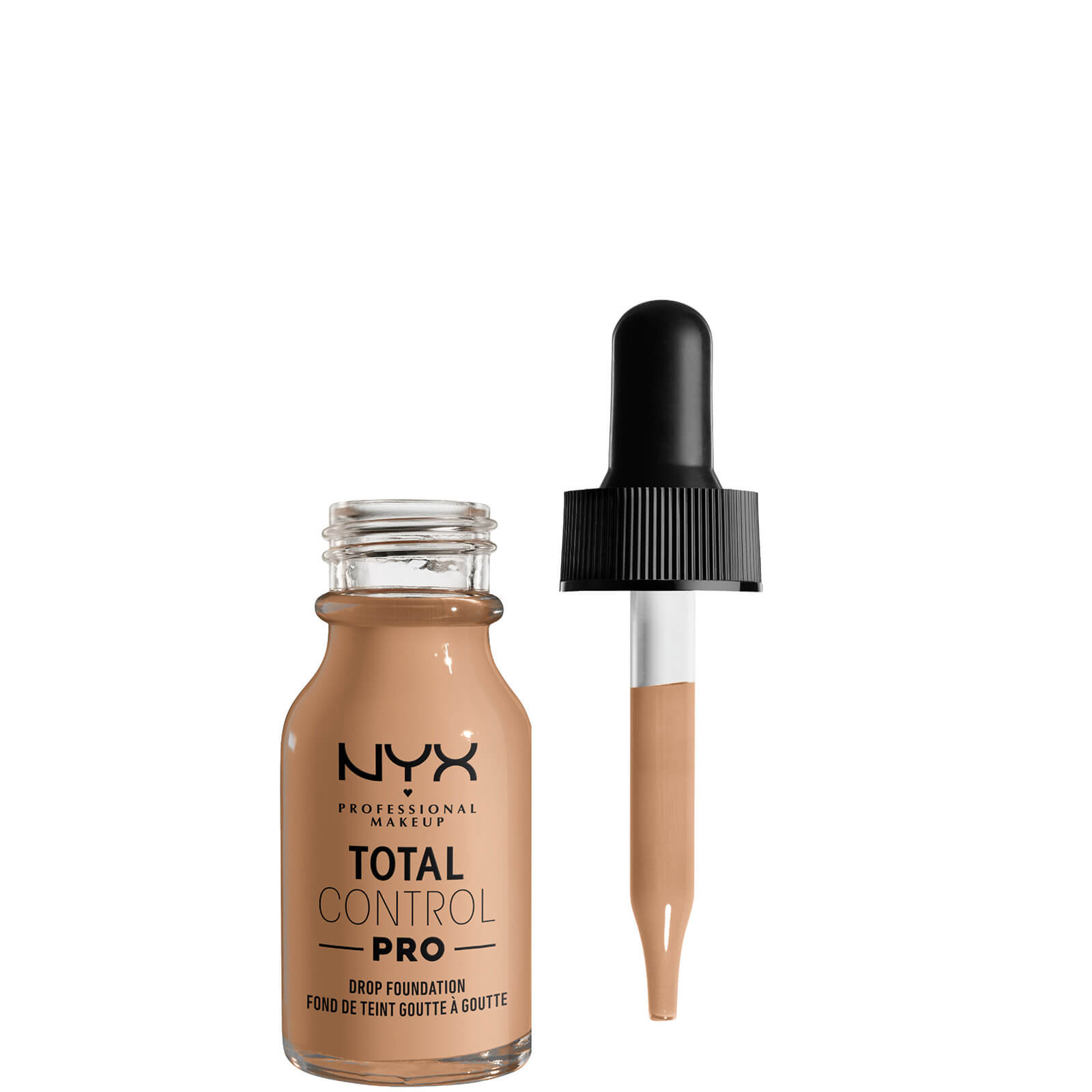 nyx professional makeup total control pro drop controllable coverage foundation 60ml (various shades) - medium olive