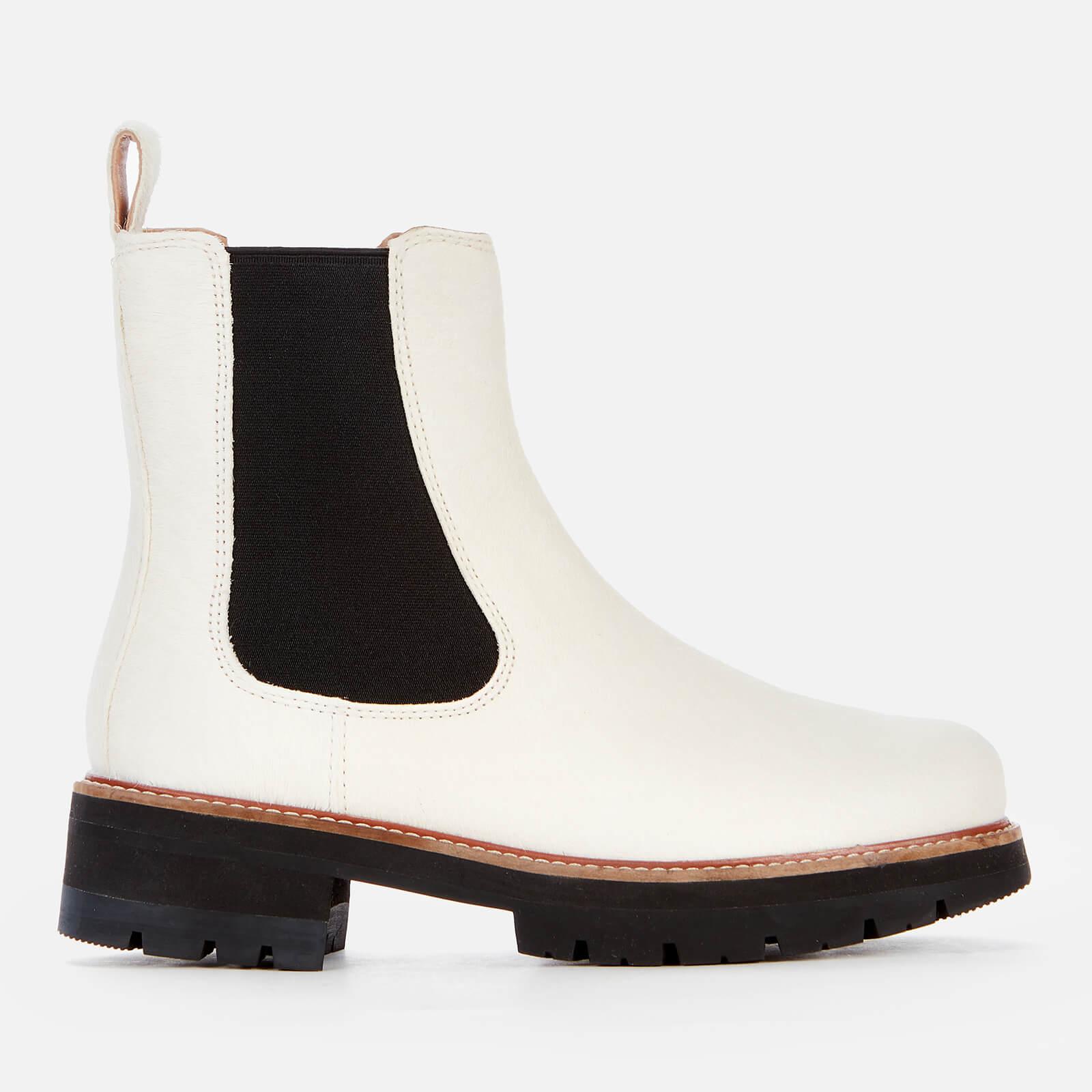 Clarks Women's Orianna Top Chelsea Boots - White Interest - Uk 3