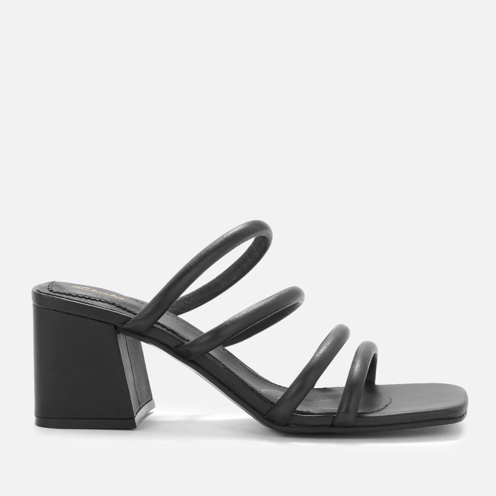 Clarks Women's Sheer65 Leather Heeled Mules - Black - Uk 3