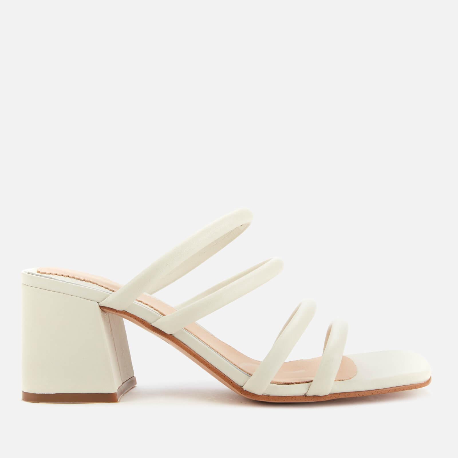 Clarks Women's Sheer65 Leather Heeled Mules - White - Uk 3