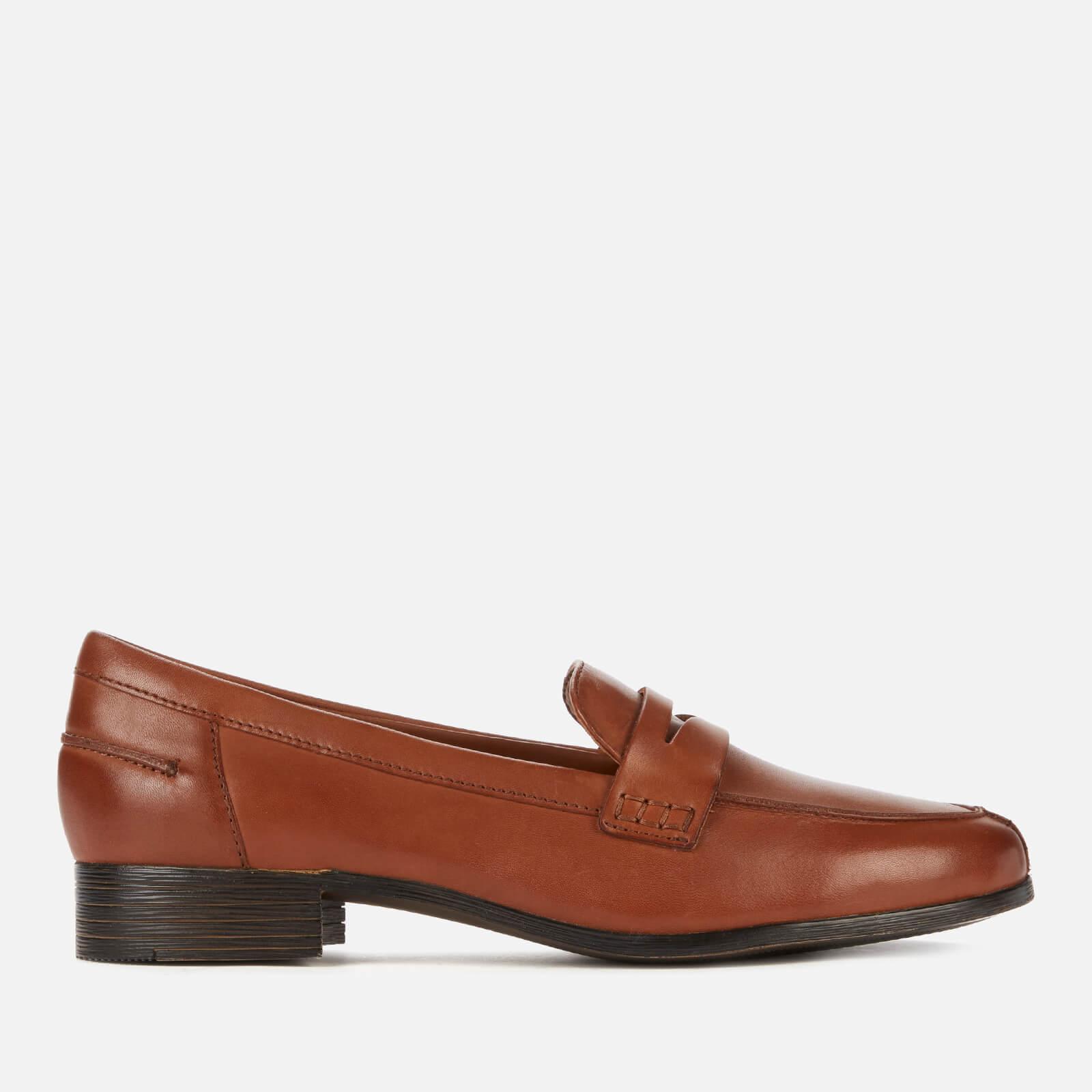Clarks Women's Hamble Leather Loafers - Tan - Uk 8