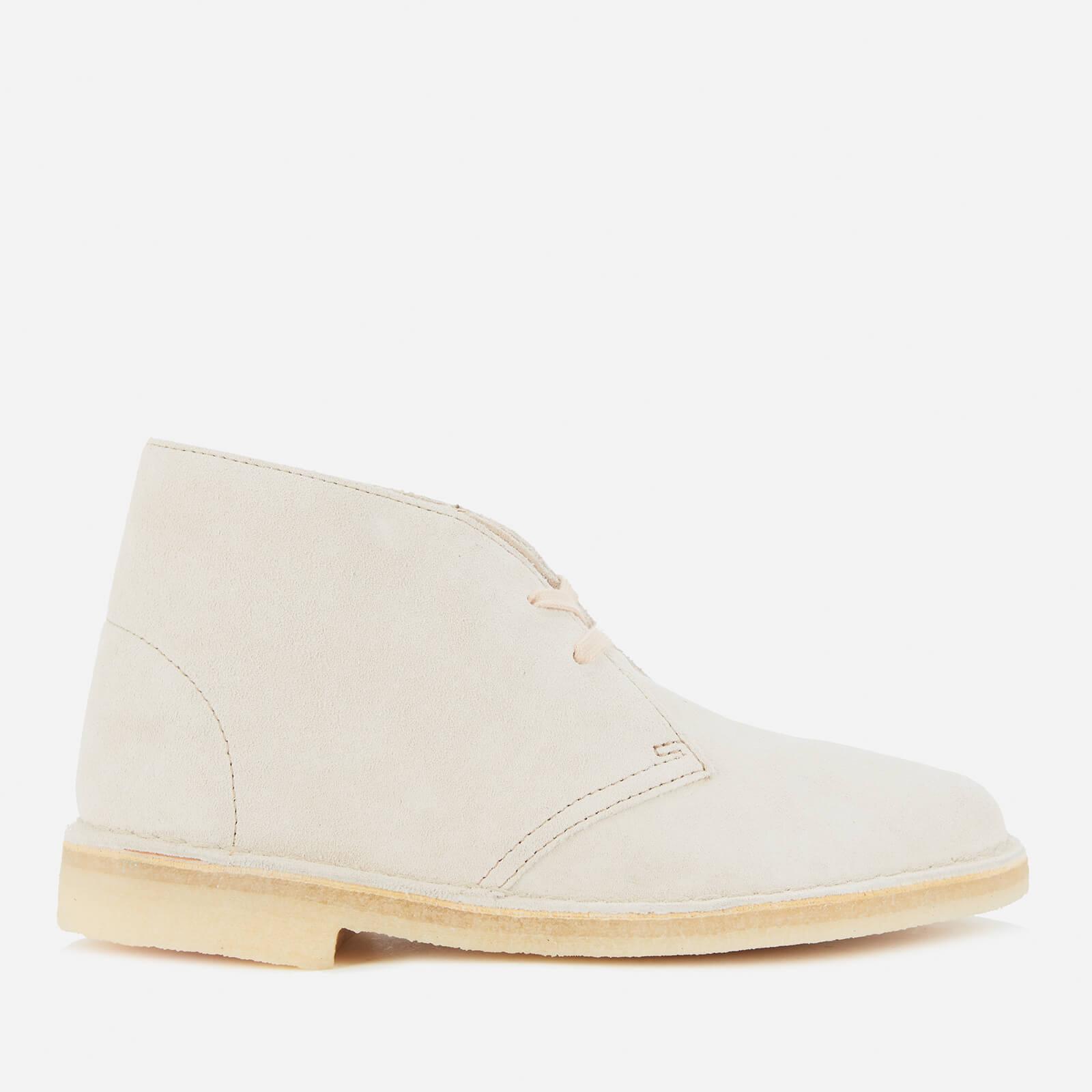 Clarks Original Women's Suede Desert Boots - Off White - Uk 4