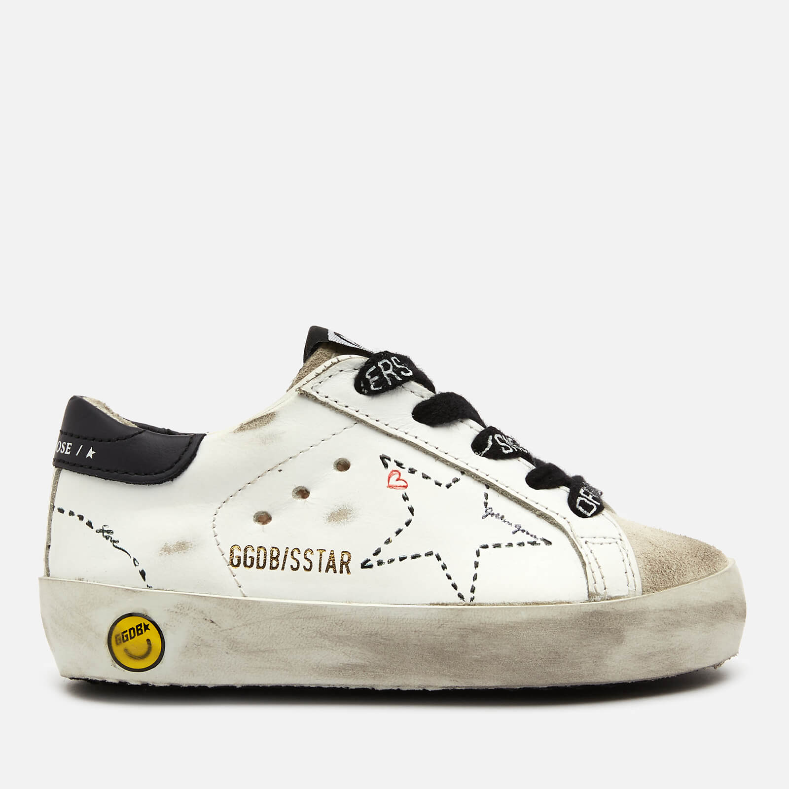 Golden Goose Deluxe Brand Toddlers' Super Star Family Leather Trainers - White/Ice - UK 4 Toddler