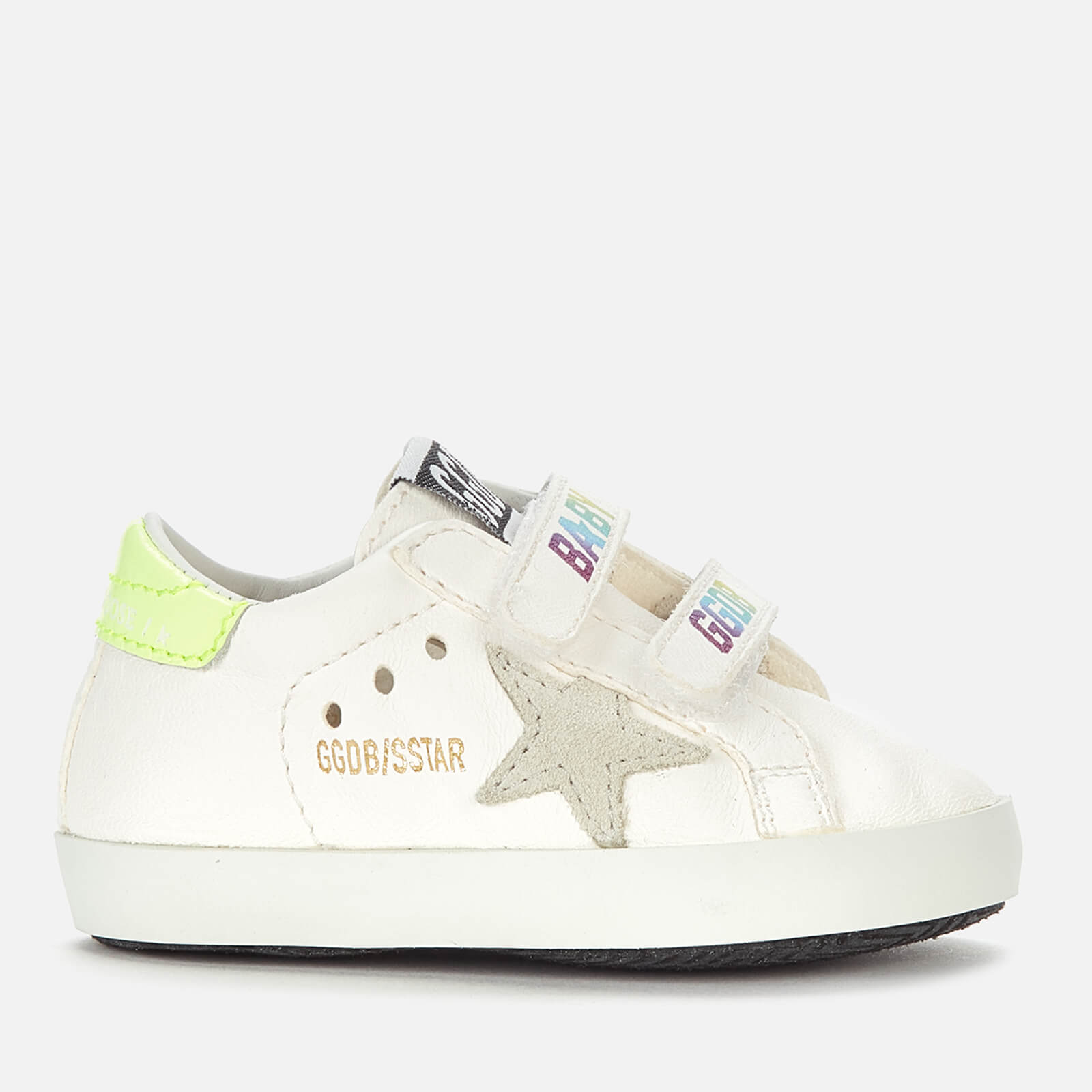 Golden Goose Deluxe Brand Babies' School Nappa Trainers - White/Ice/Yellow Fluo/Multicolor - UK 0 Infant