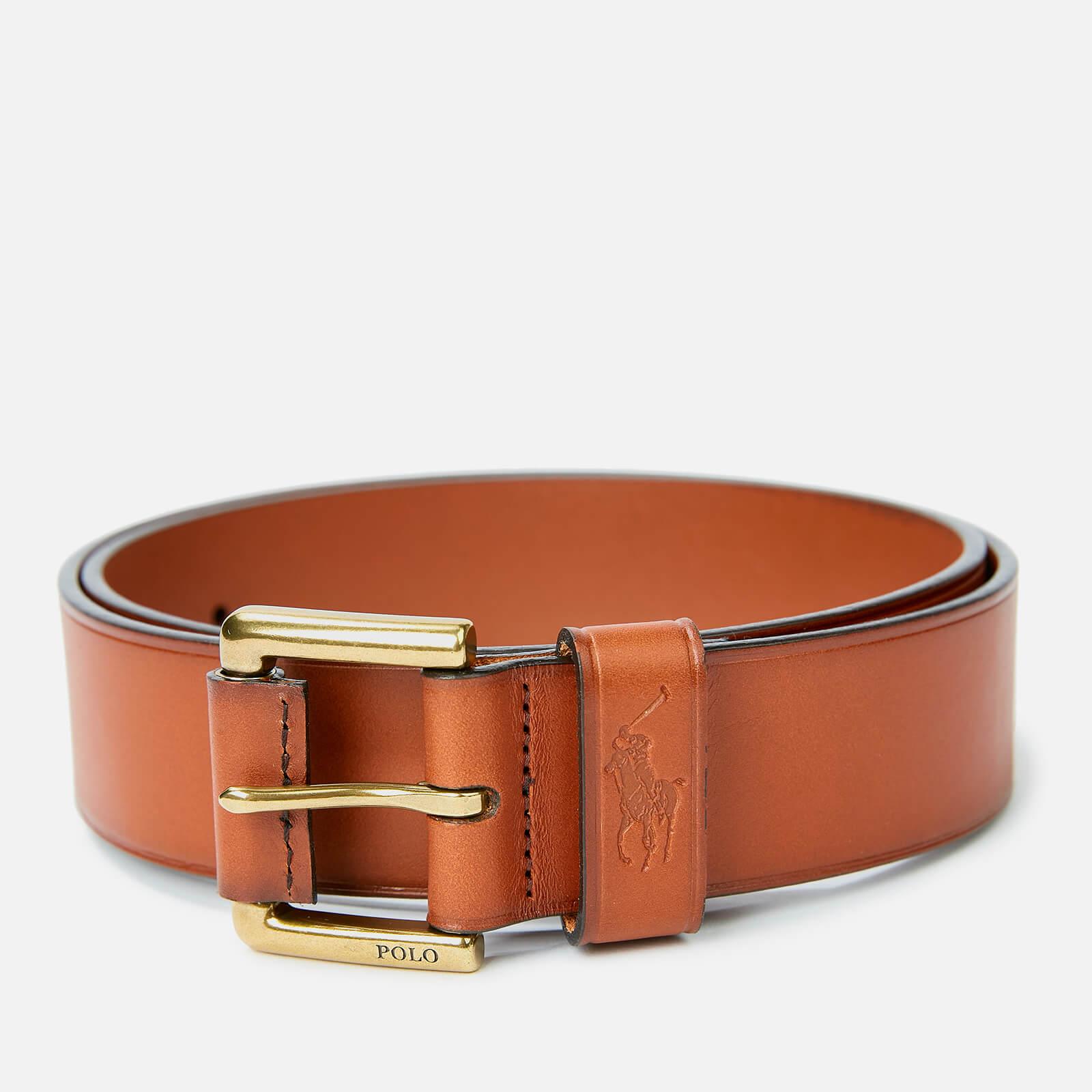 Polo Ralph Lauren Men's Leather Polo Dress Belt - Tan - Xl/W38