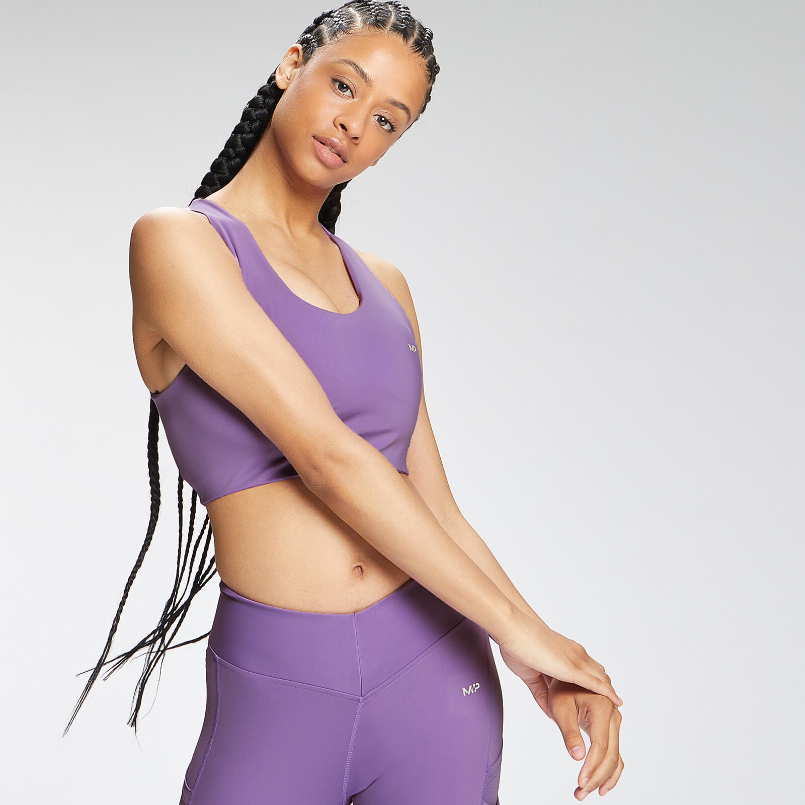 Купить MP Women's Tempo Cross Back Sports Bra - Deep Lilac - XXL, Myprotein International