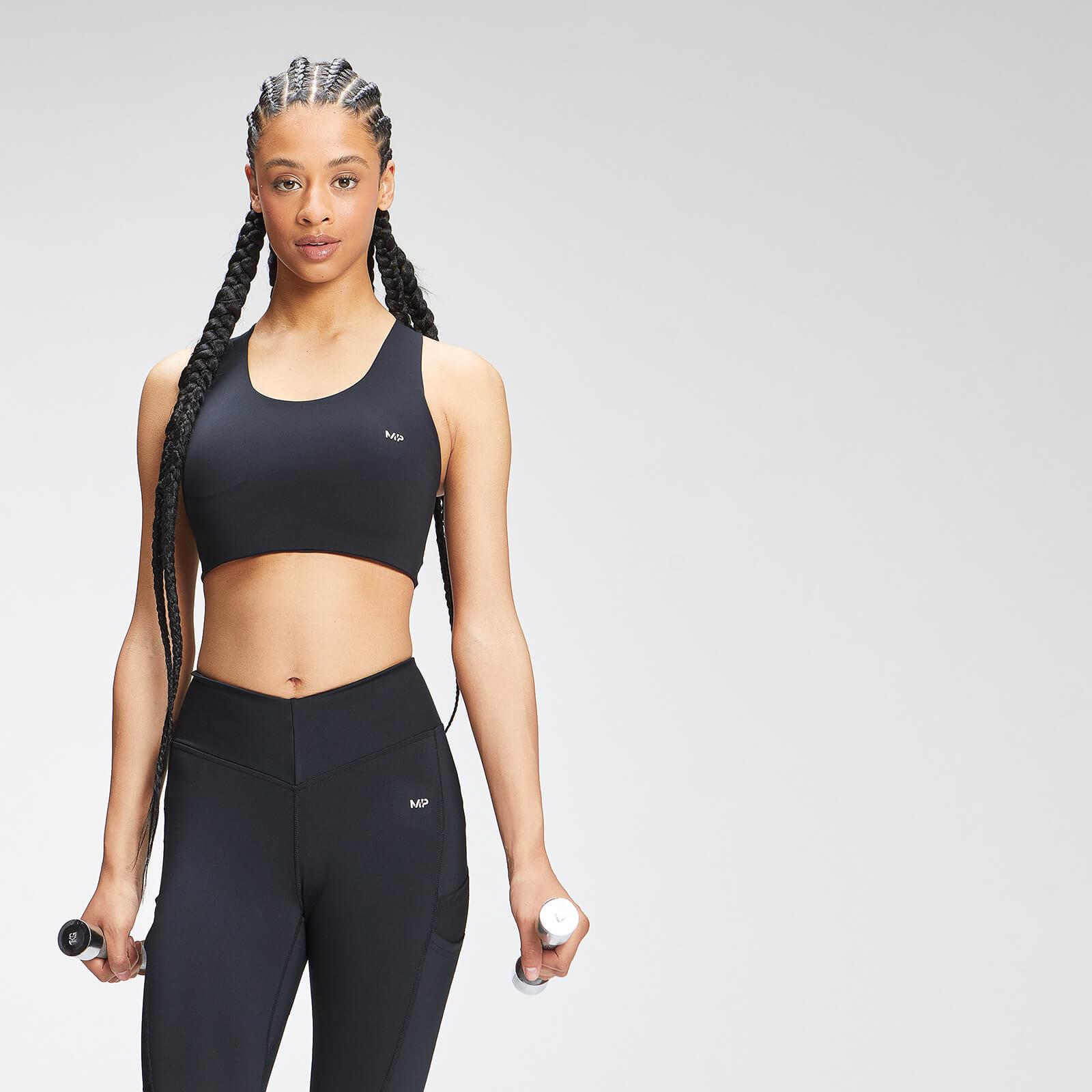 Купить MP Women's Tempo Cross Back Sports Bra - Black - XXS, Myprotein International