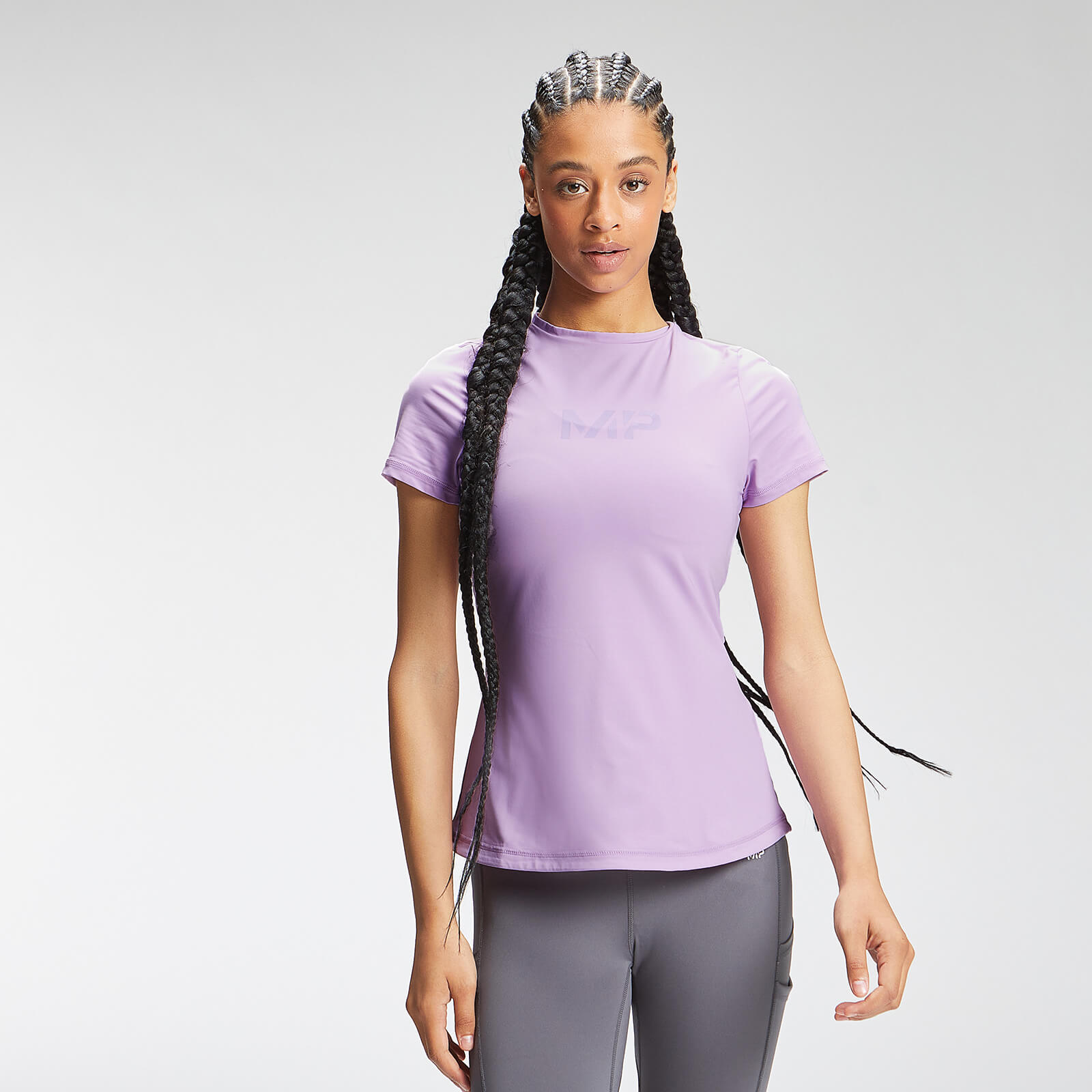 Купить MP Women's Tempo Short Sleeve Top - Powder Purple - XL, Myprotein International