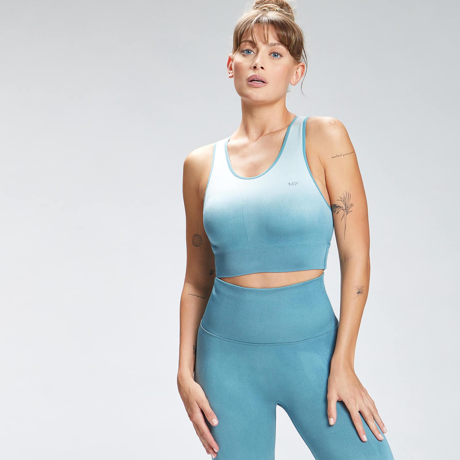 Купить MP Women's Velocity Seamless Sports Bra - Ocean Blue - XXS, Myprotein International