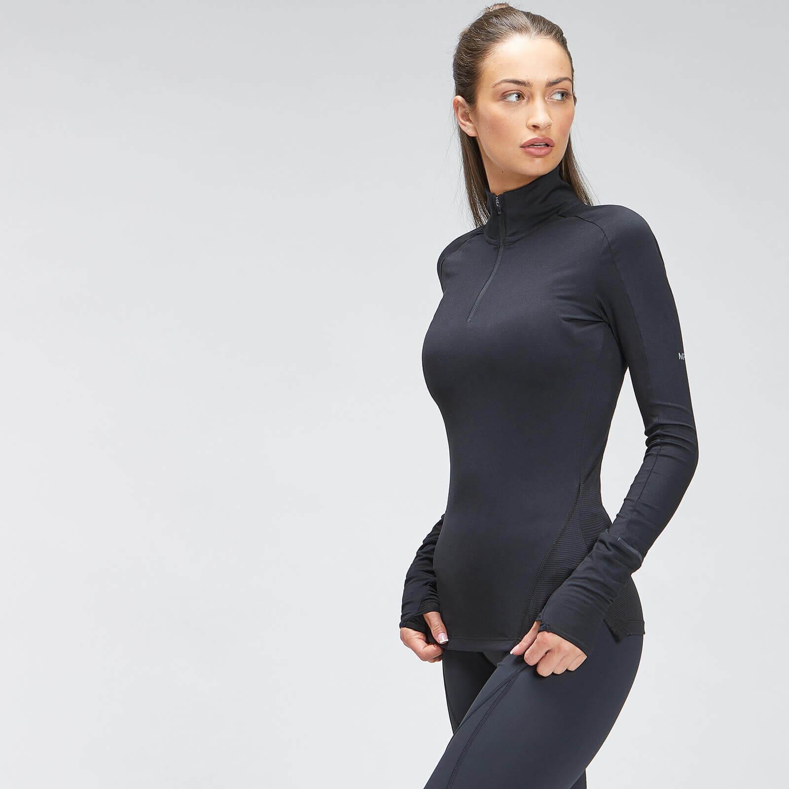 Купить MP Women's Velocity 1/4 Zip - Black - XXS, Myprotein International