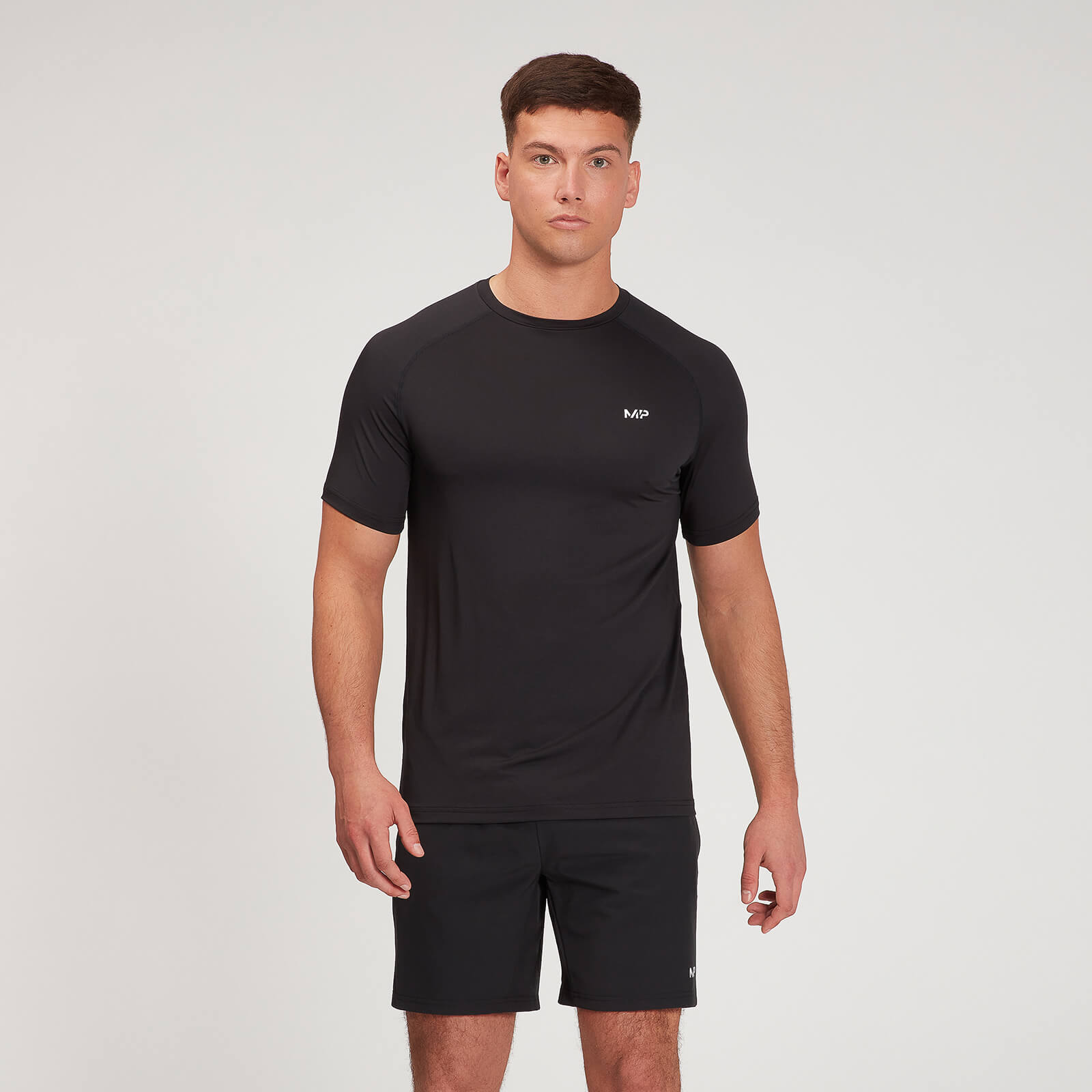 MP Men's Graphic Running Short Sleeve T-Shirt - Black - XXXL