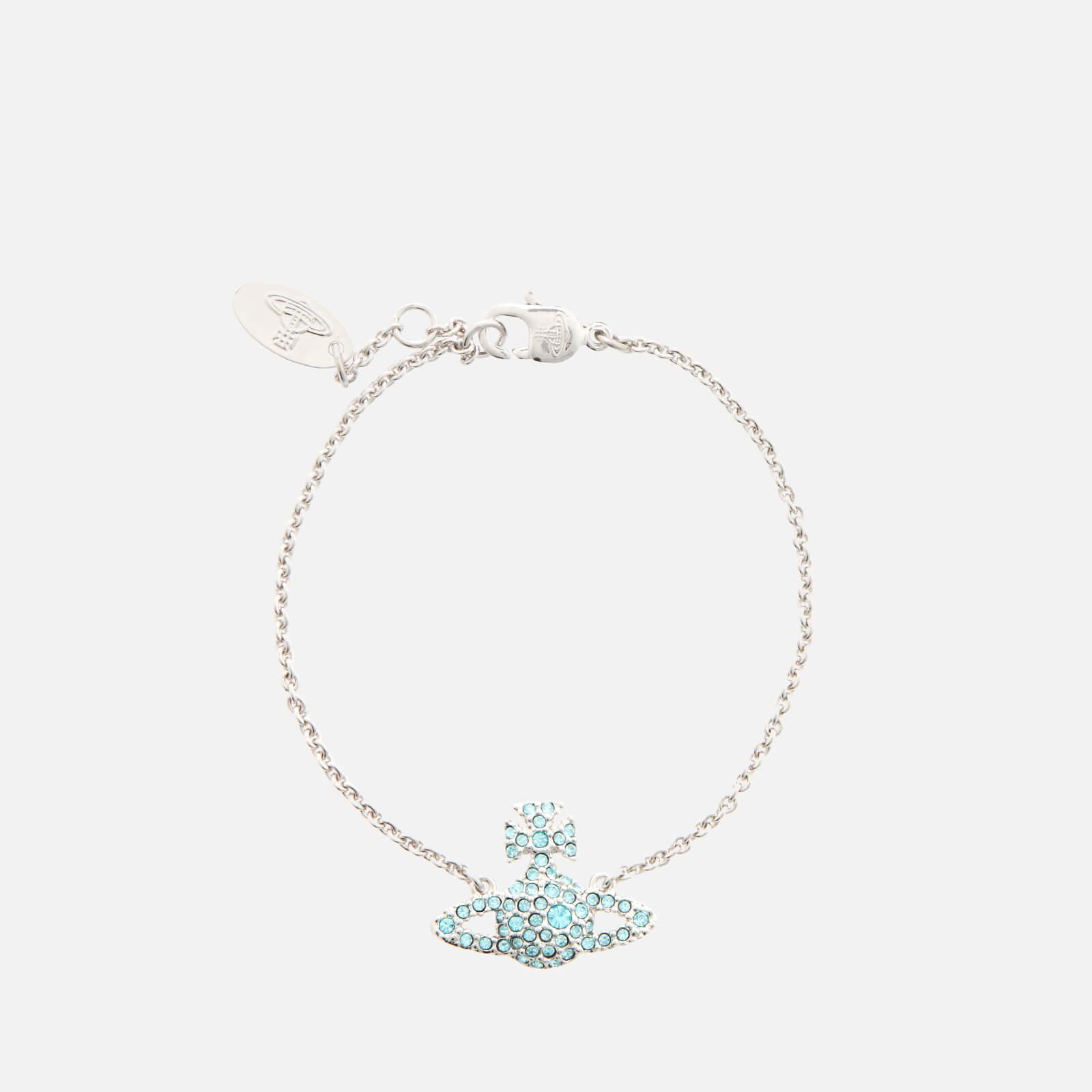 Vivienne Westwood Women's Grace Bas Relief Bracelet - Silver-Tone Aqua Bohemica