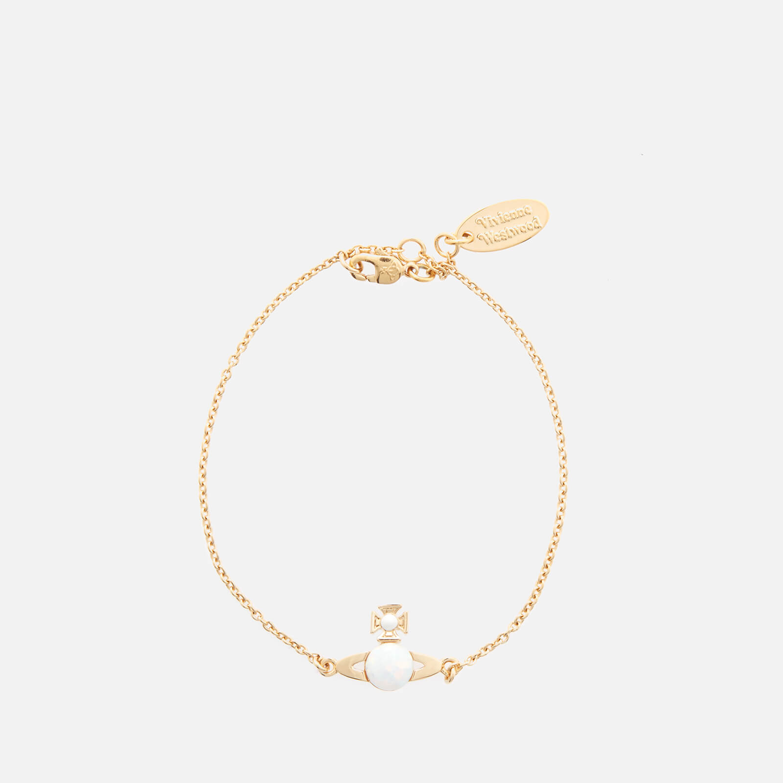 Vivienne Westwood Women's Isabelitta Bas Relief Bracelet - Gold White