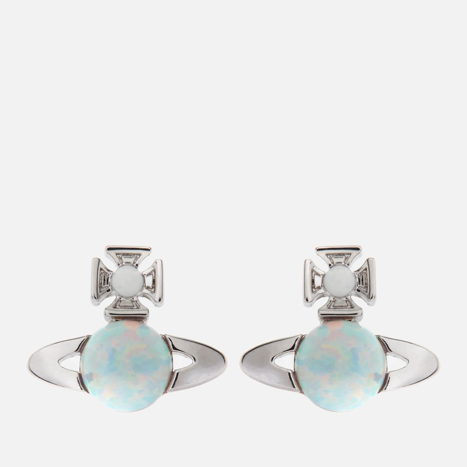 Vivienne Westwood Women's Isabelitta Bas Relief Earrings - Rhodium White