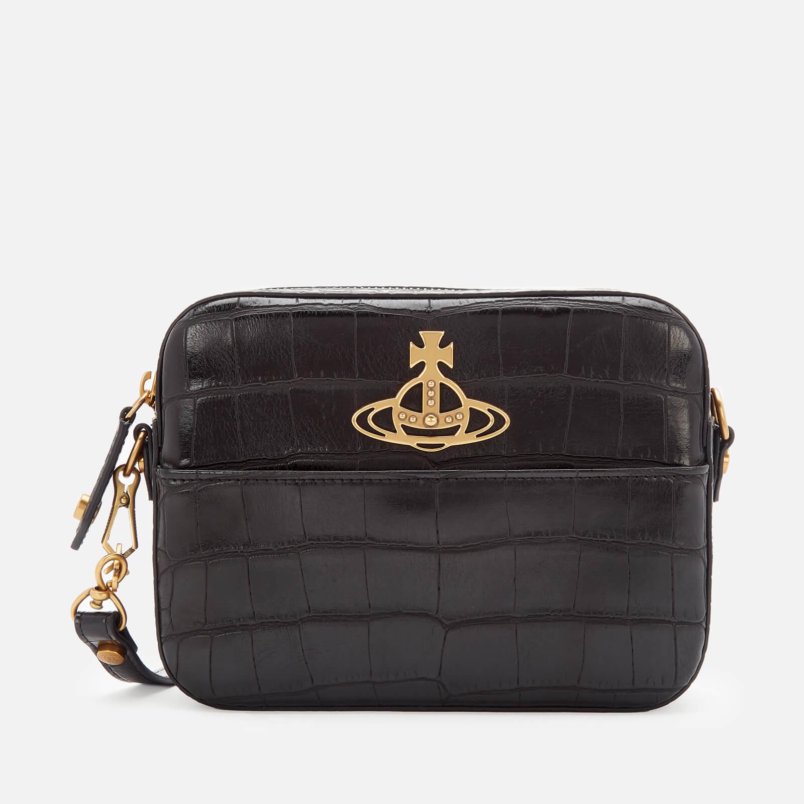 Vivienne Westwood Women's Johanna Croc Cross Body Bag - Black