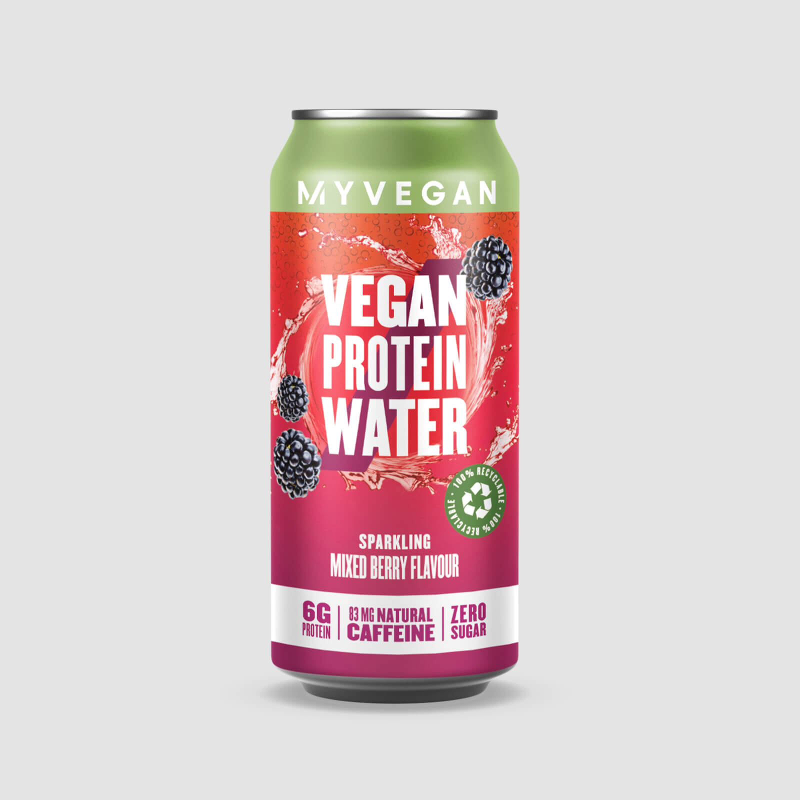 Veganes Protein-Wasser mit Sprudel - 300ml - Beerenmix