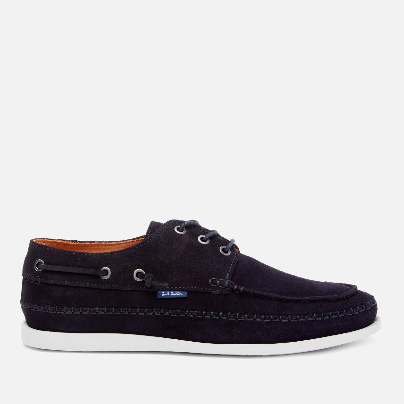 ps paul smith men's hobbs suede boat shoes - navy - uk 7
