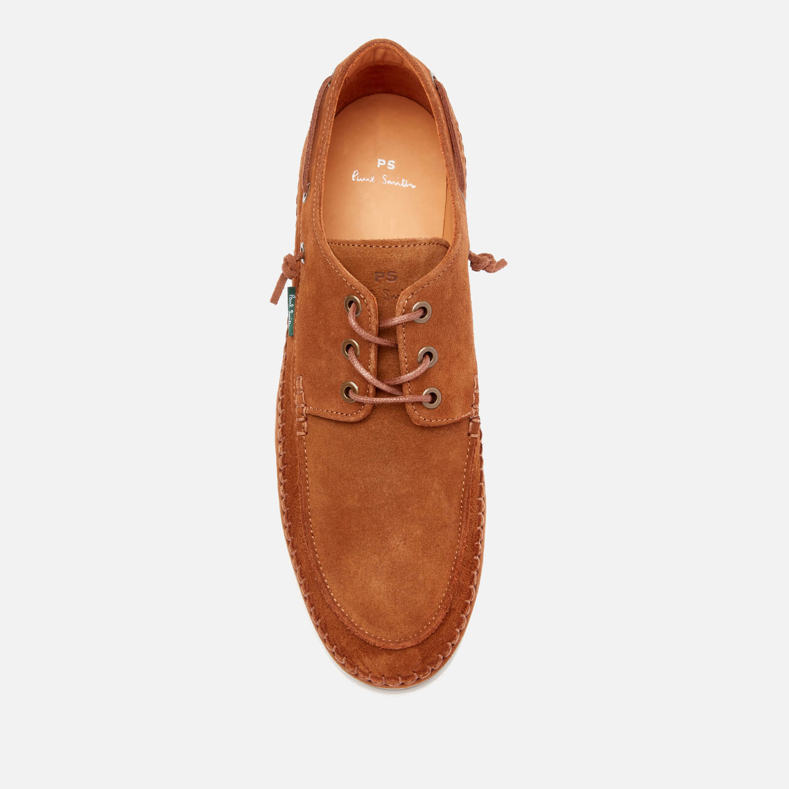 ps paul smith men's hobbs suede boat shoes - tan - uk 7