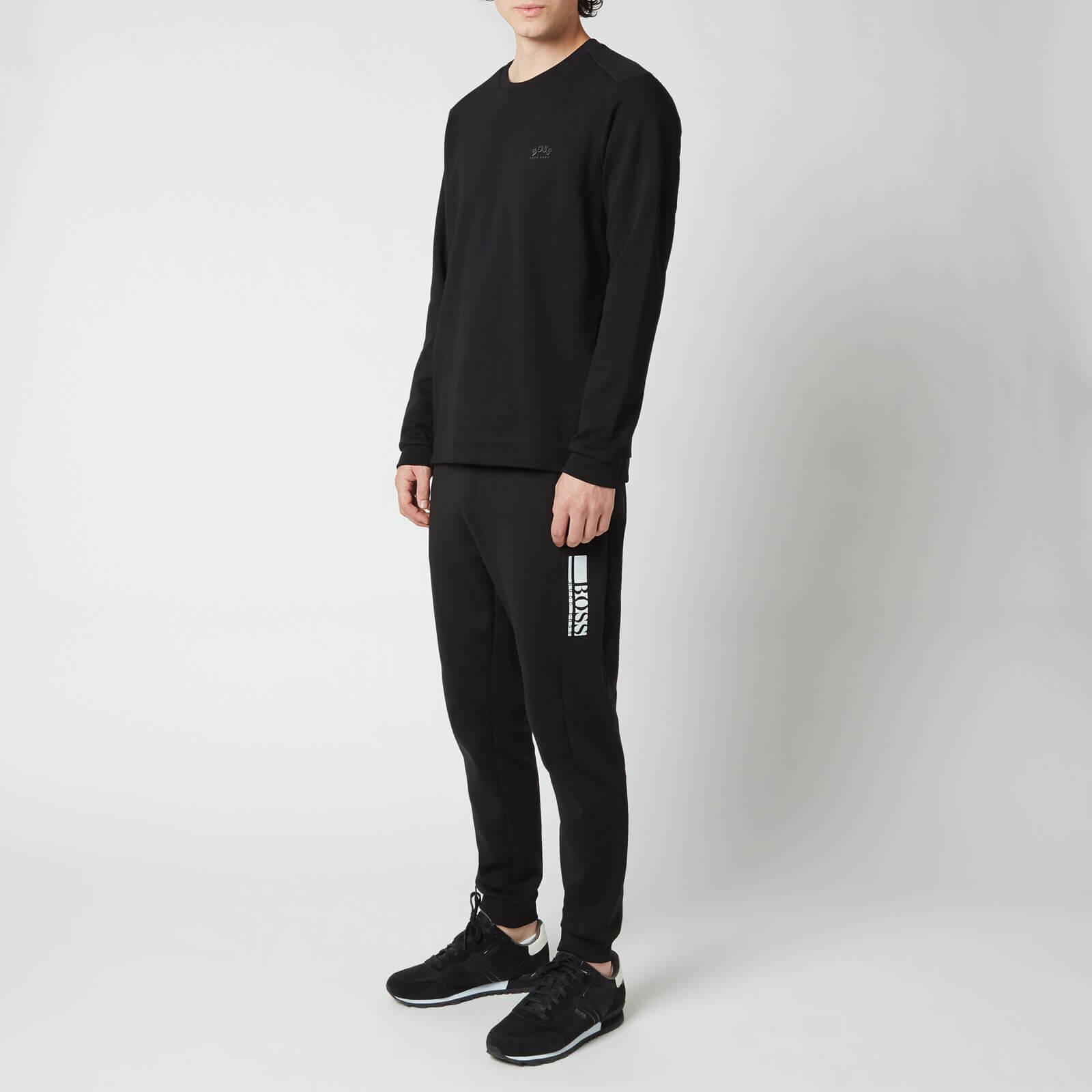 Boss Athleisure Men's Salbo Sweatshirt - Black - Xl 50455074 001 Mens Tops, Black