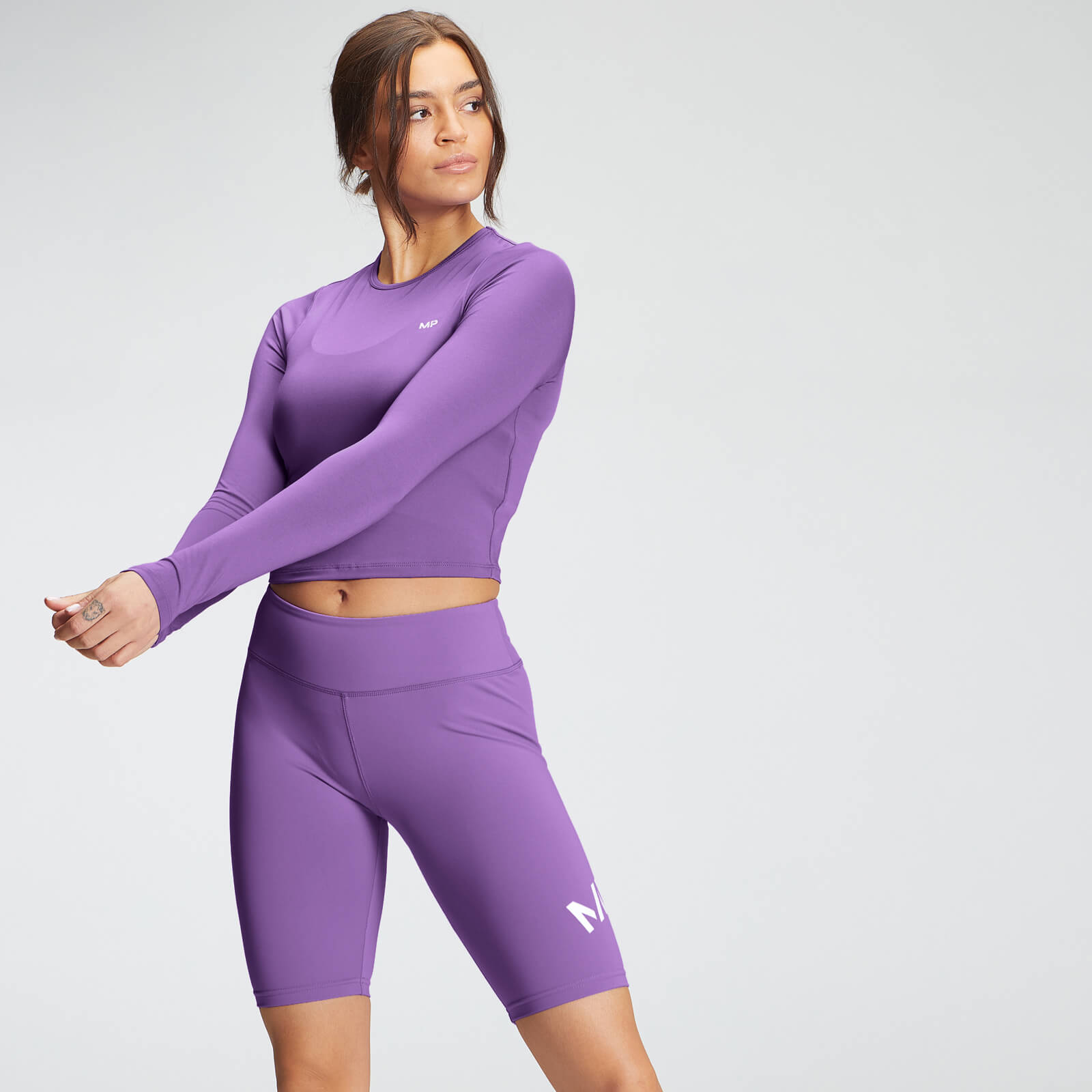 Купить MP Women's Essentials Training Dry Tech Long Sleeve Crop Top - Deep Lilac - XL, Myprotein International