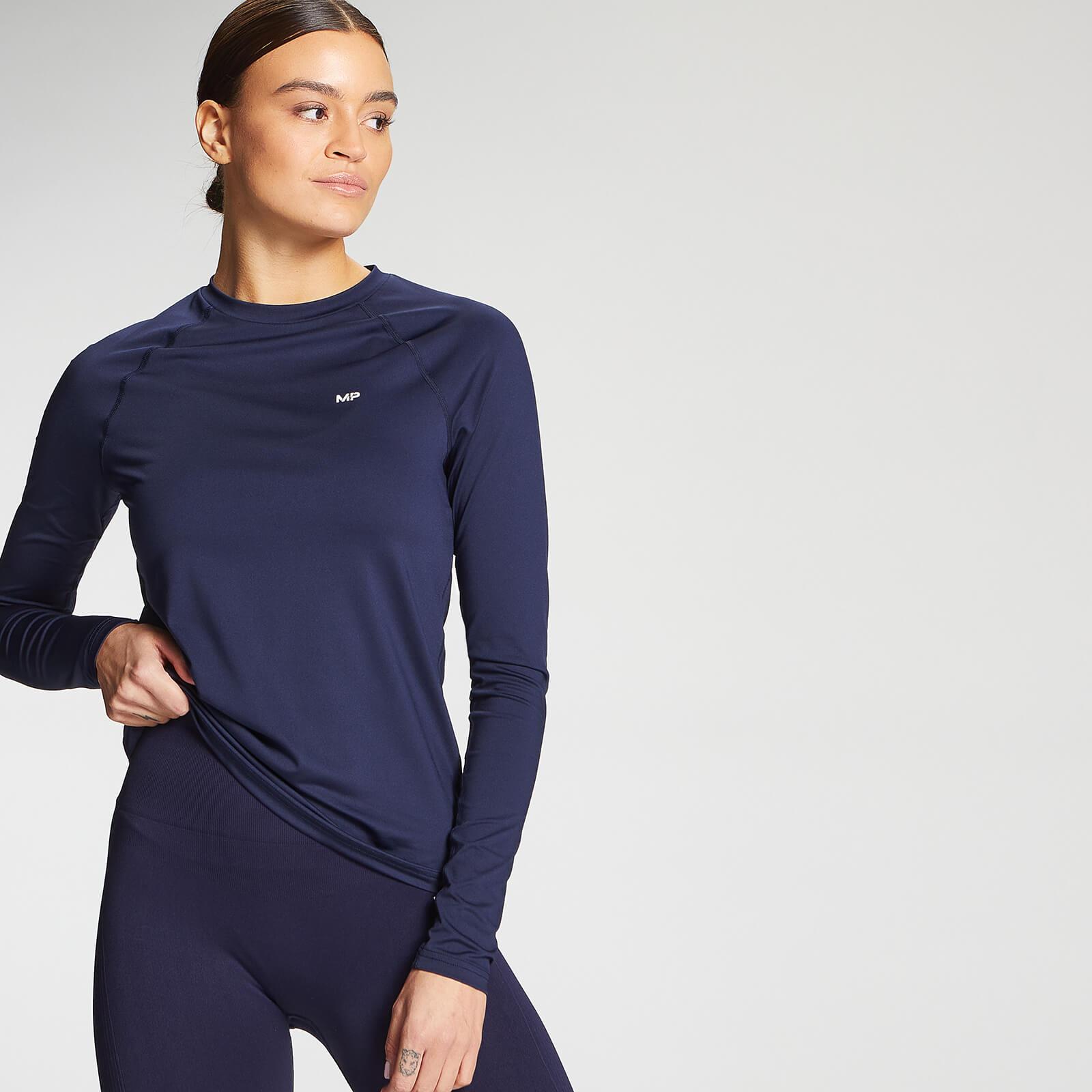 Купить MP Women's Essentials Training Slim Fit Long Sleeve Top - Navy - XS, Myprotein International