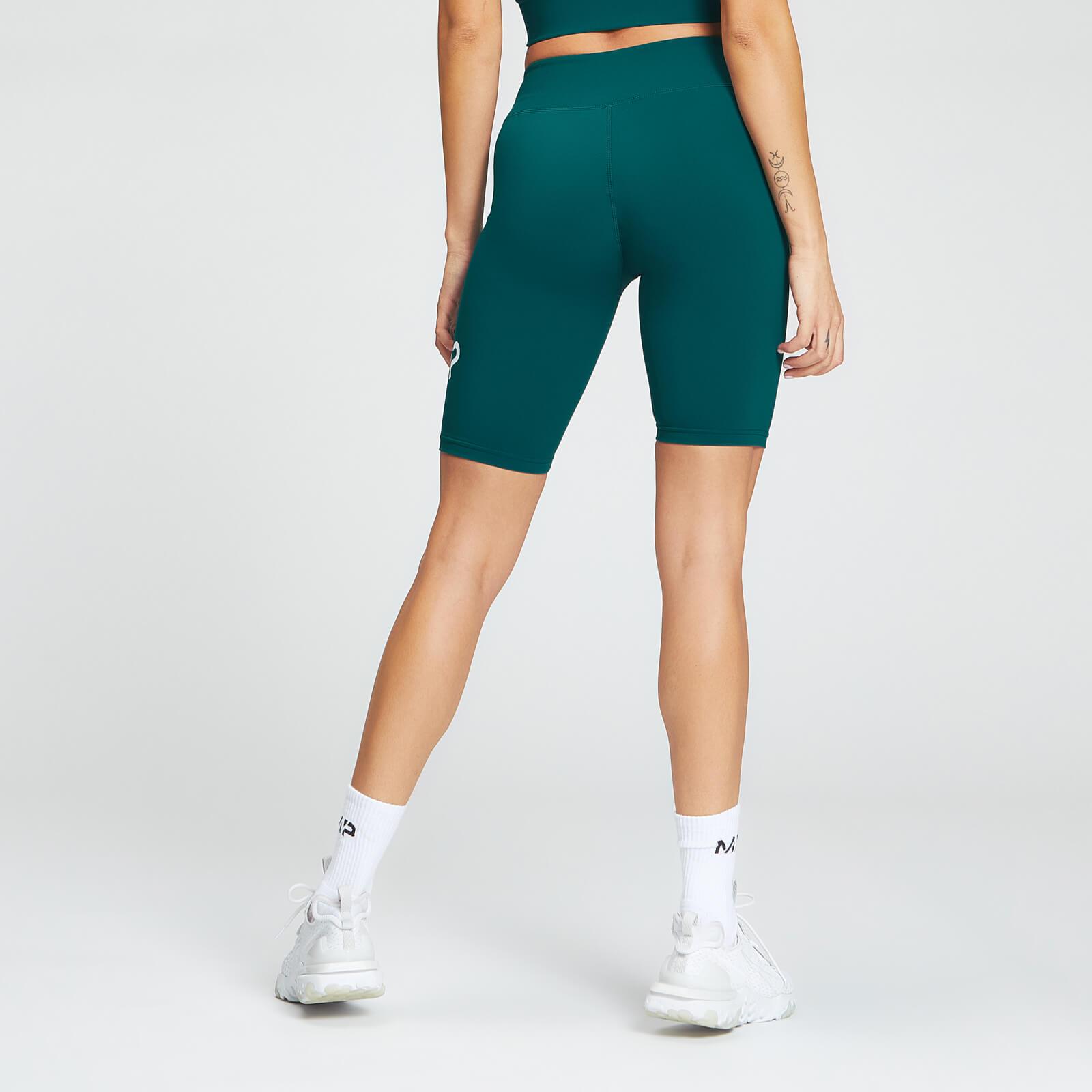mp essentials training women's full length cycling short - deep teal - xxs