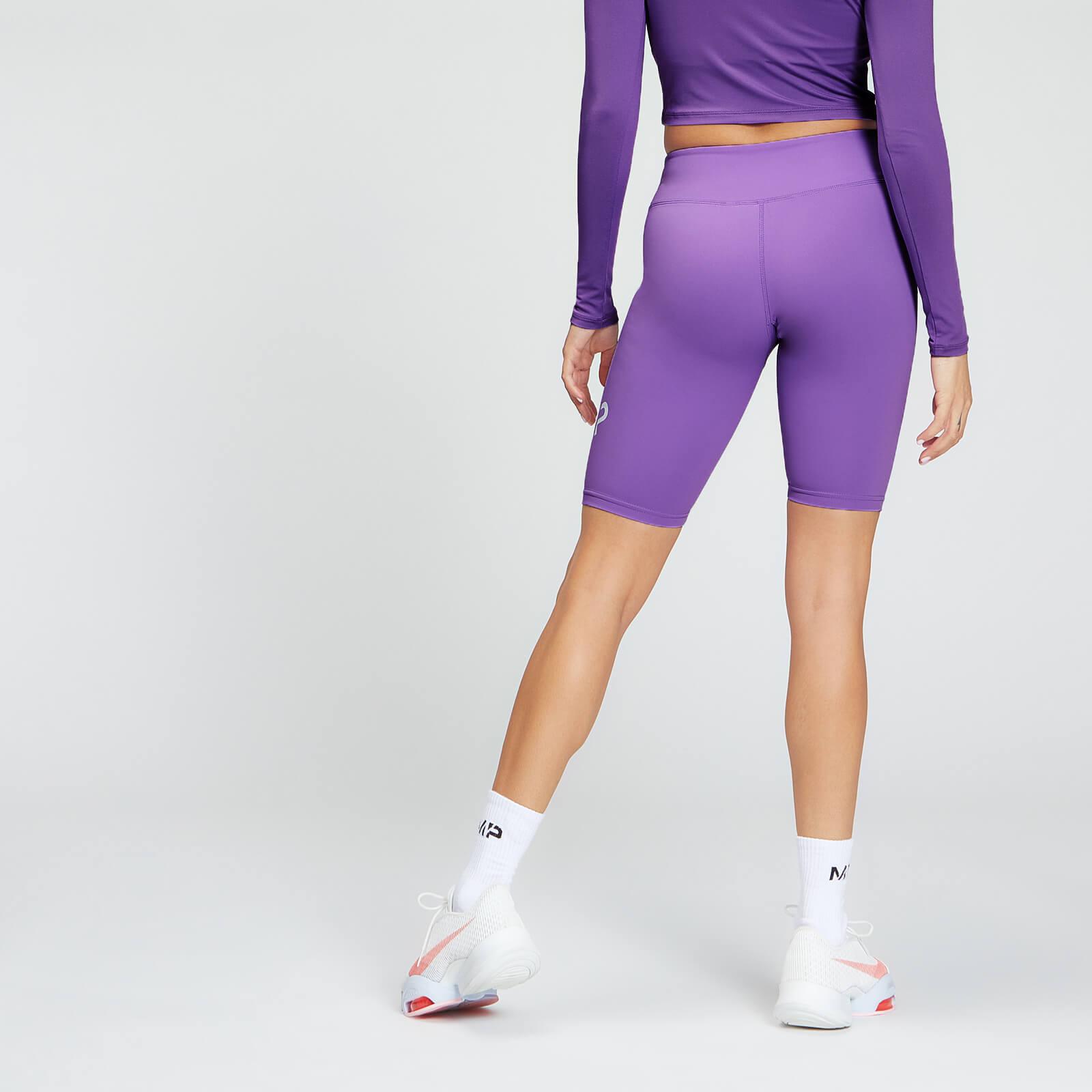 mp essentials training women's full length cycling short - deep lilac - xxs