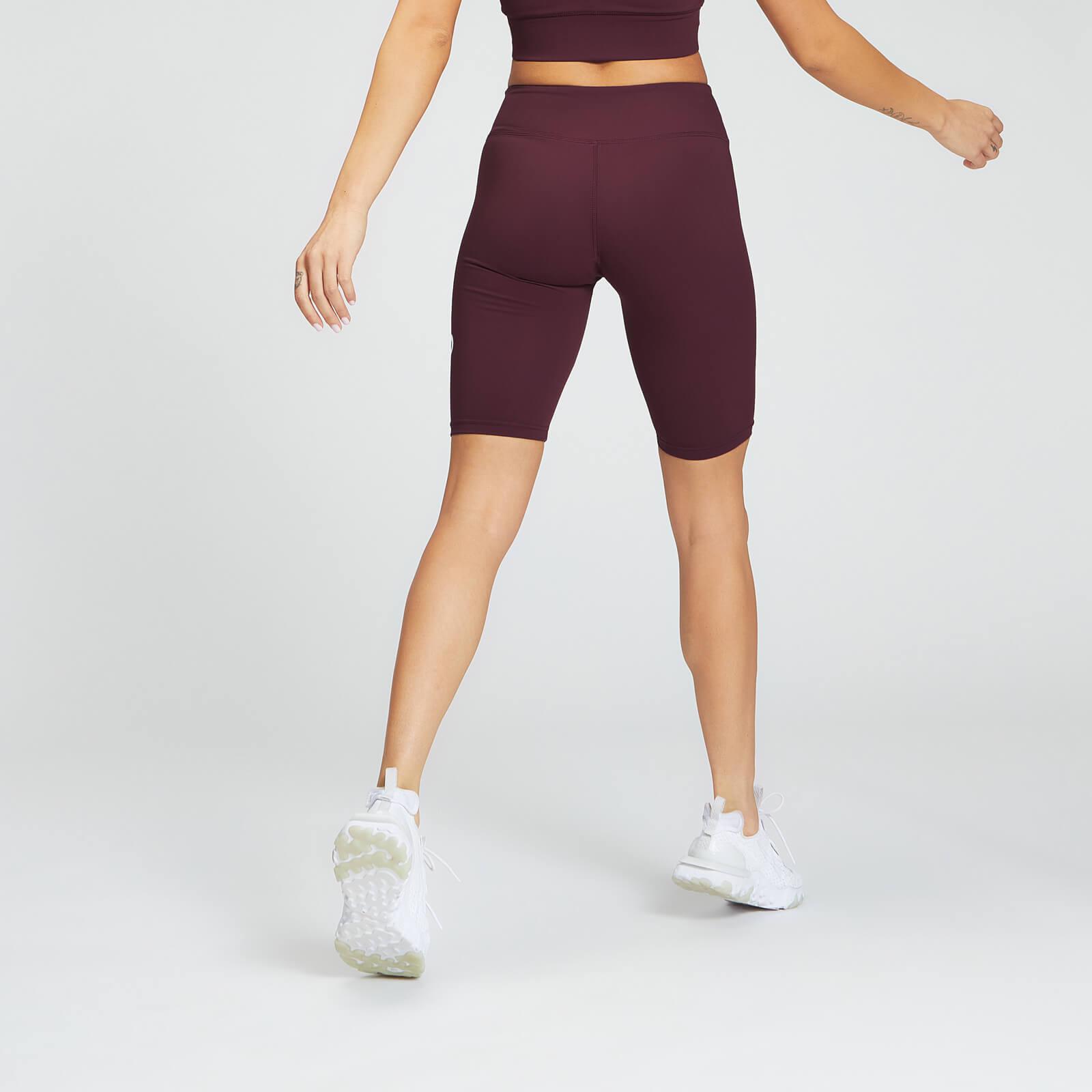 mp essentials training women's full length cycling short - port - xxs