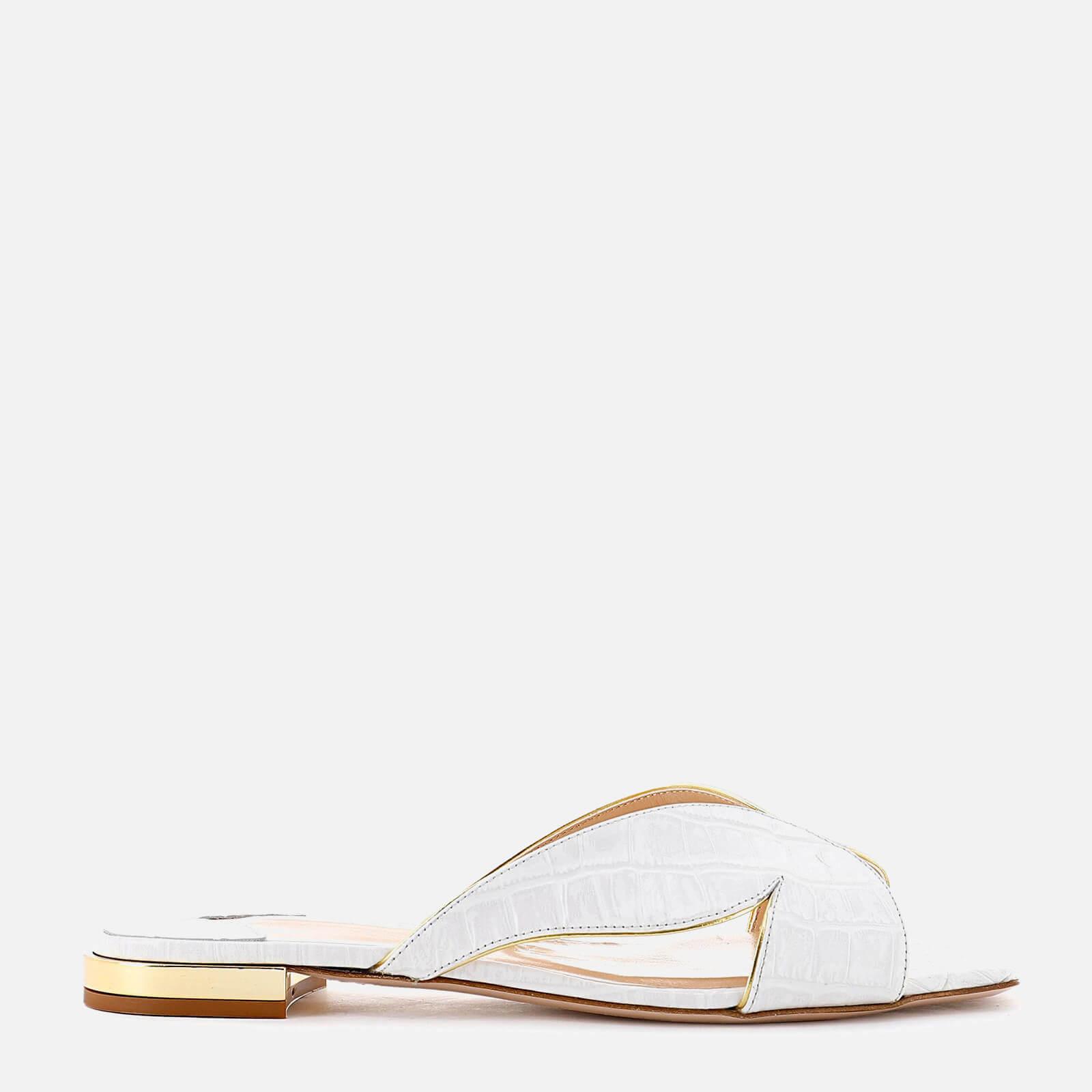 Sophia Webster Women's Rita Croc Flat Sandals - White