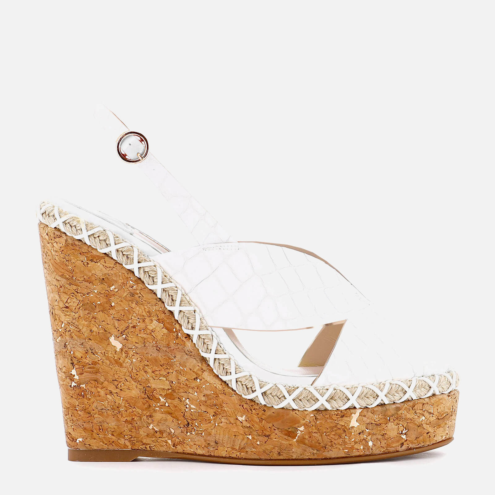 Sophia Webster Women's Rita Croc Wedged Sandals - White
