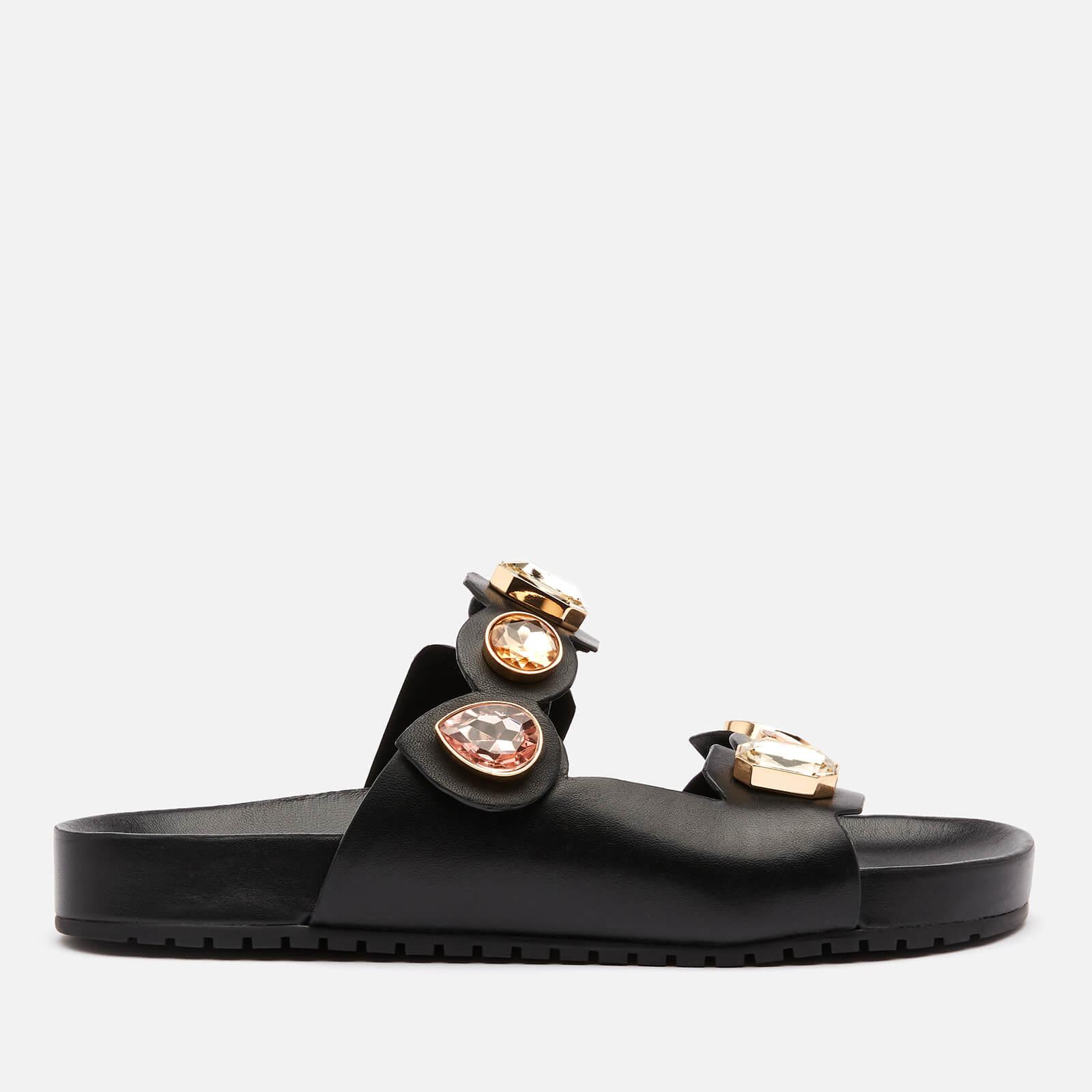 Sophia Webster Women's Ritzy Slide Sandals - Black/Gold