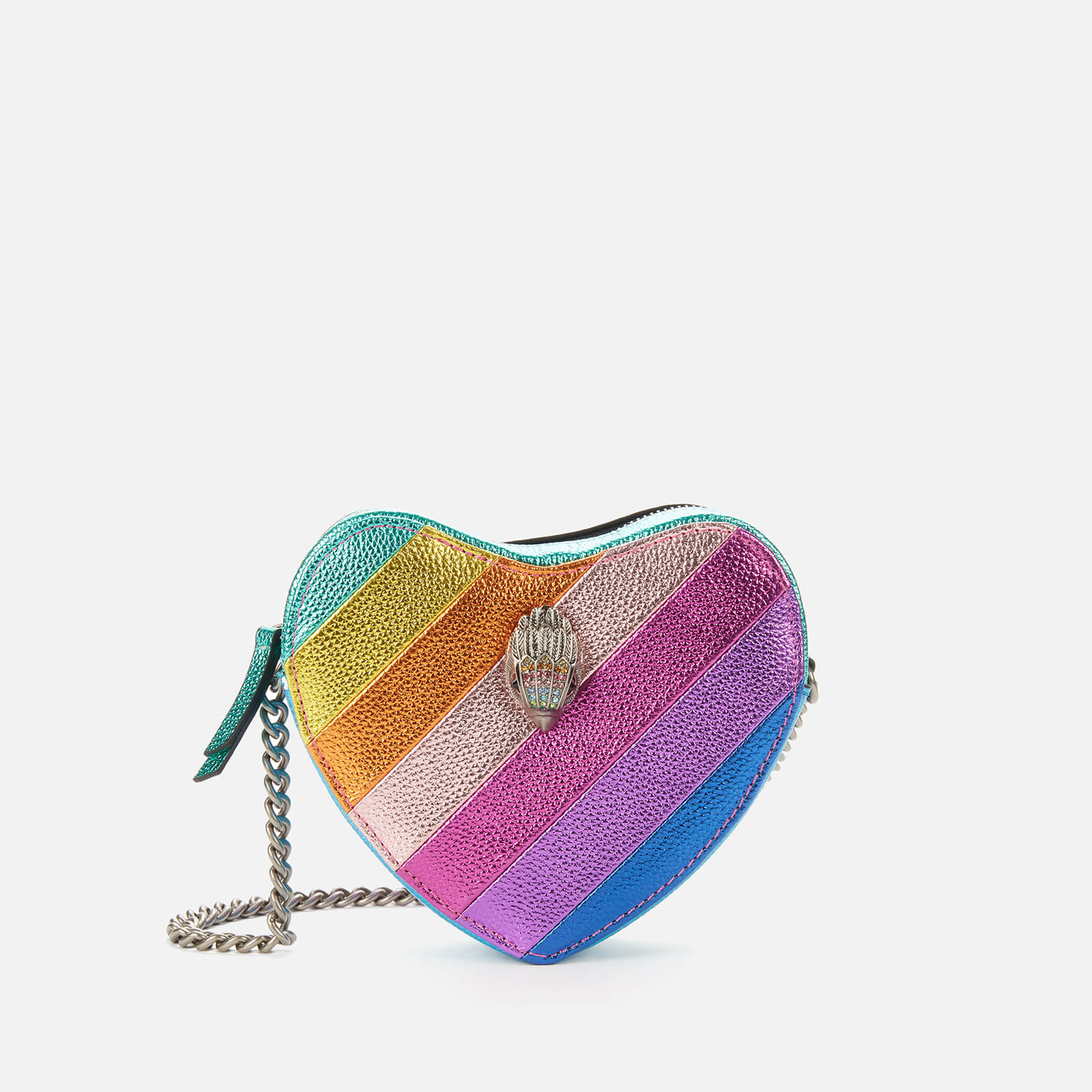 Kurt Geiger London Women's Kensington Metallic Heart Cross Body Bag - Multi