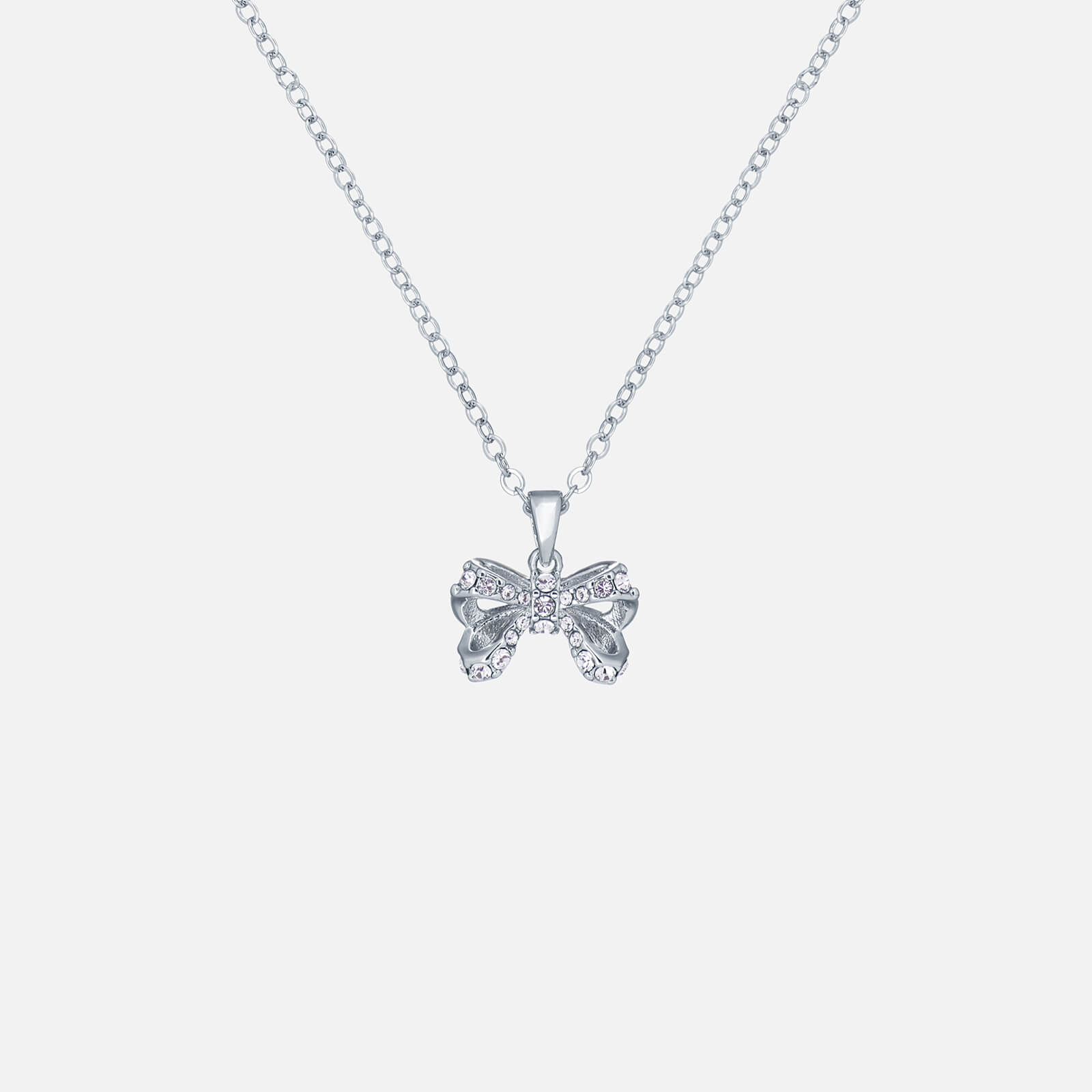 ted baker women's crestra: crystal petite bow pendant - silver/crystal