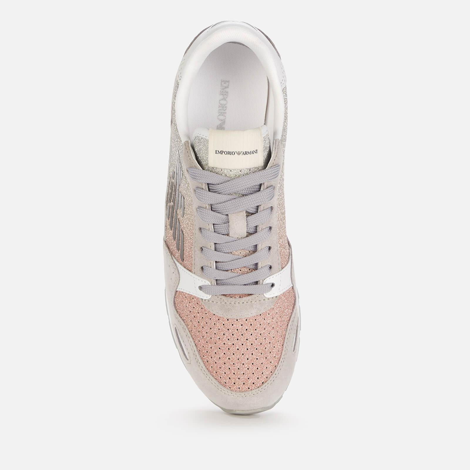 emporio armani women's running style trainers - grey - uk 3