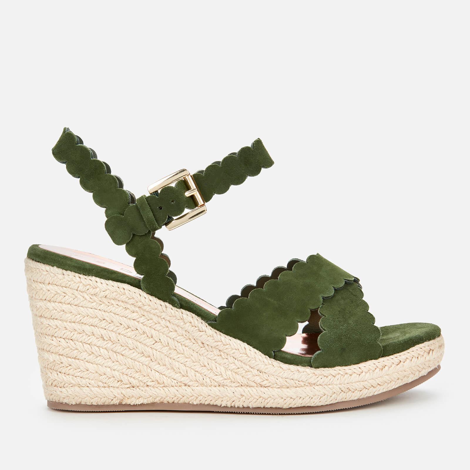Ted Baker Women's Selanas Wedged Sandals - Khaki - UK 3