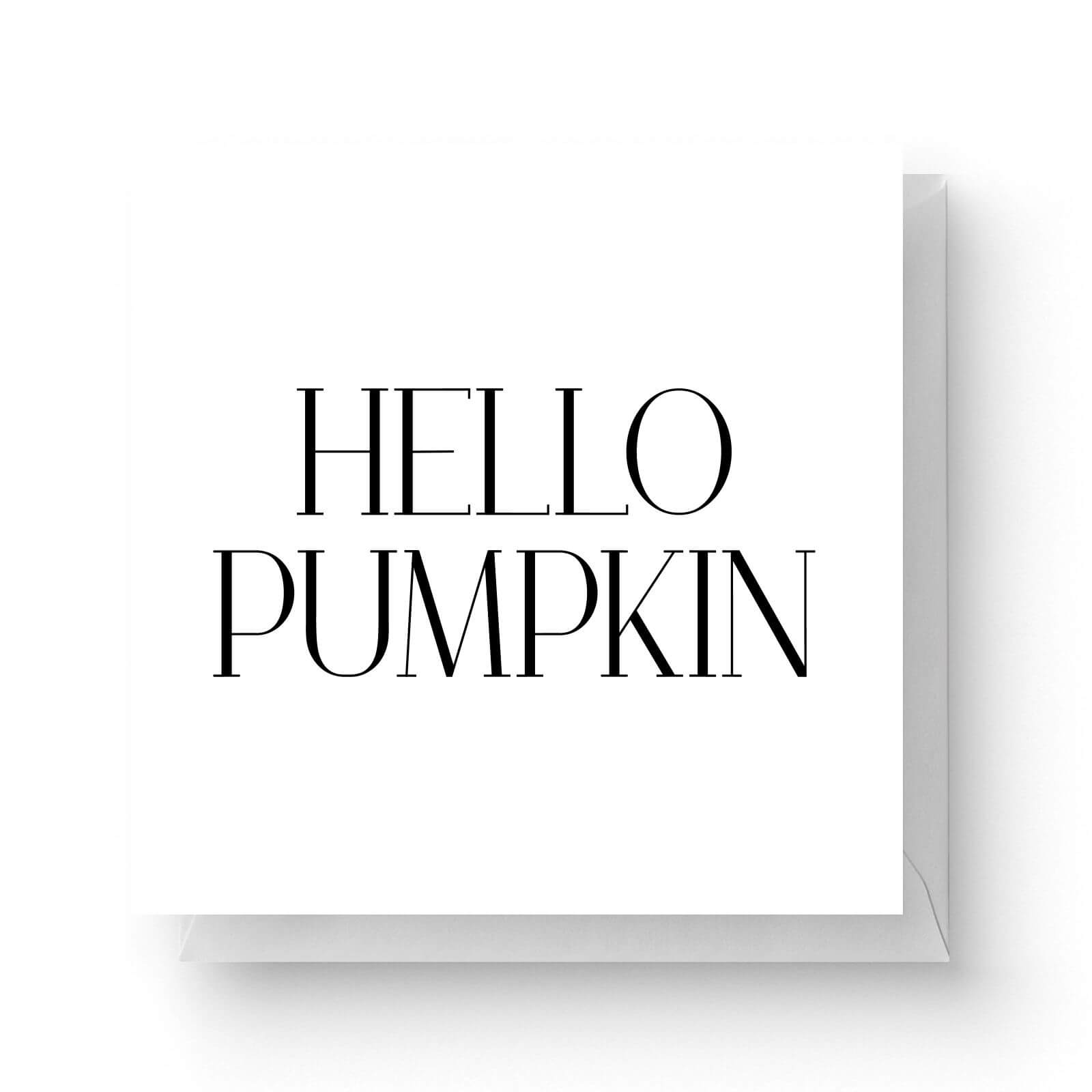 Click to view product details and reviews for Hello Pumpkin Square Greetings Card.