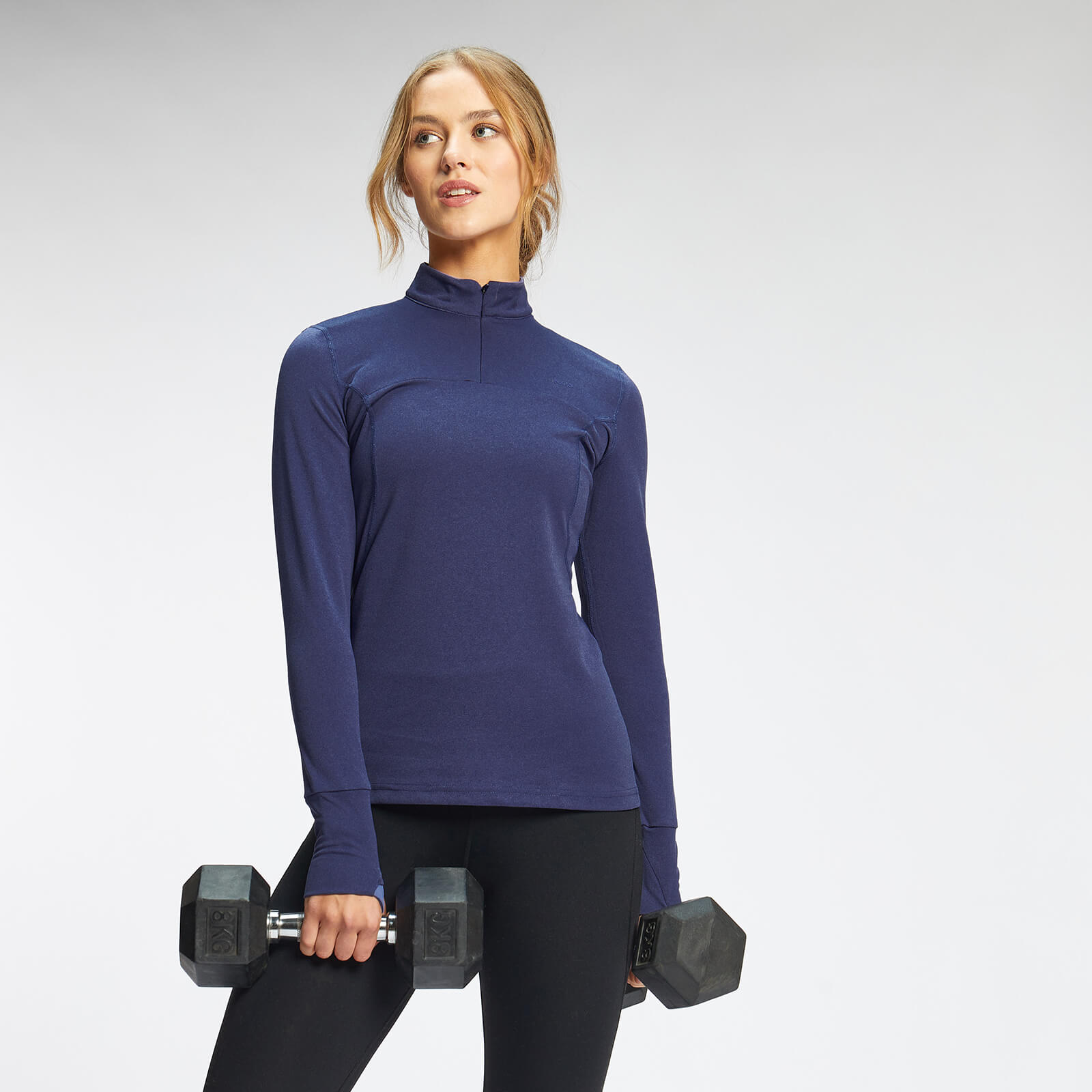 Купить MP Women's Power Ultra Regular Fit 1/4 Zip Top - Galaxy Blue - M, Myprotein International