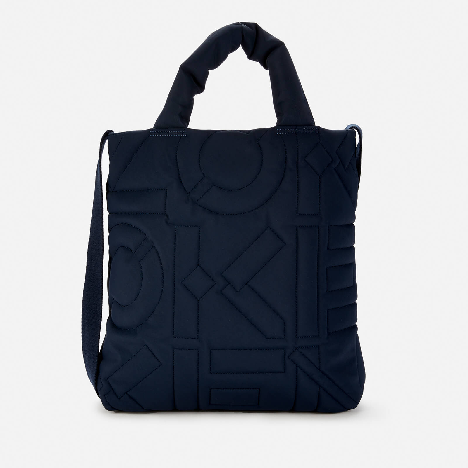 KENZO Women's Quilted Monogram Recycle Tote Bag - Navy Blue