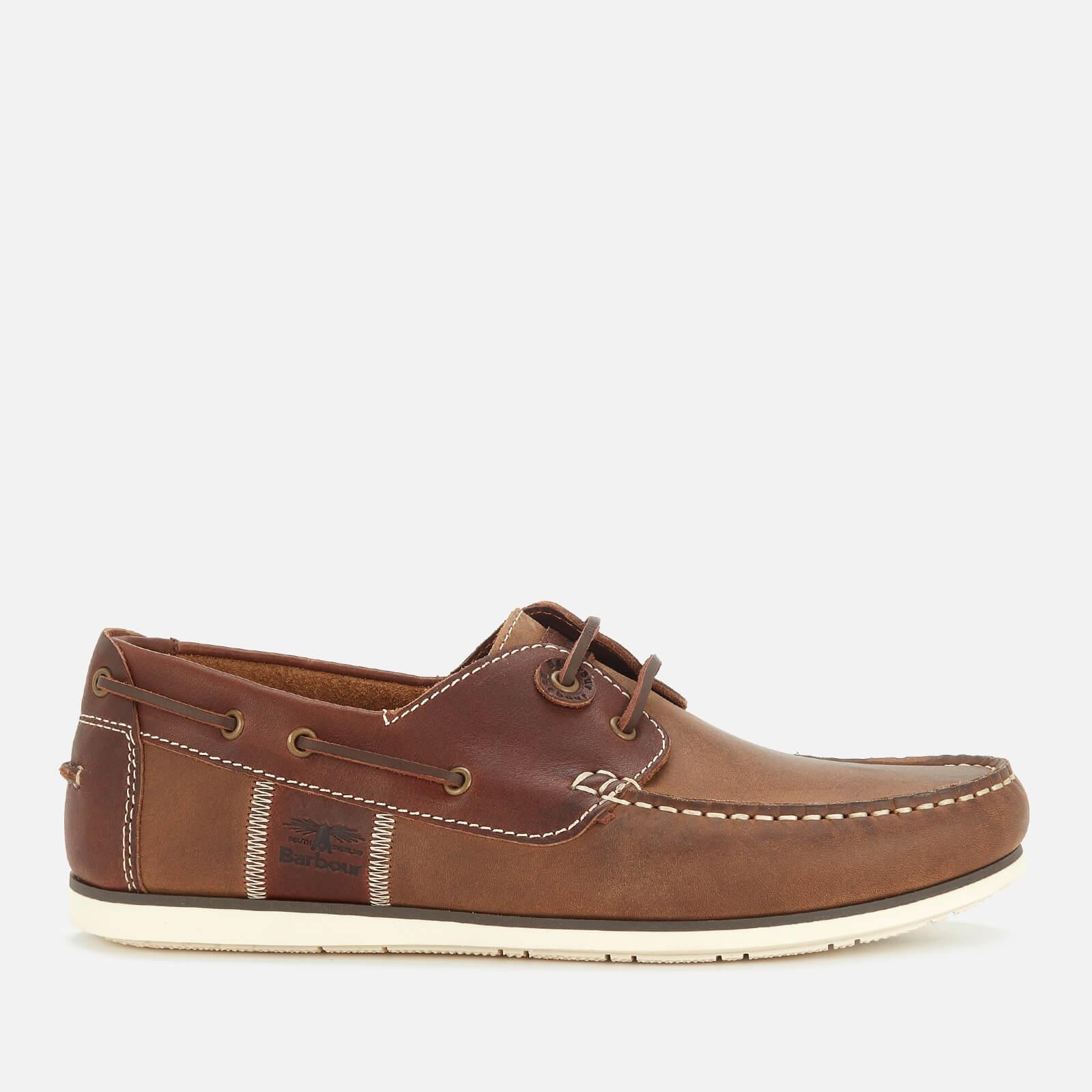 Barbour Men's Capstan Leather Boat Shoes - Beige/Brown - UK 8