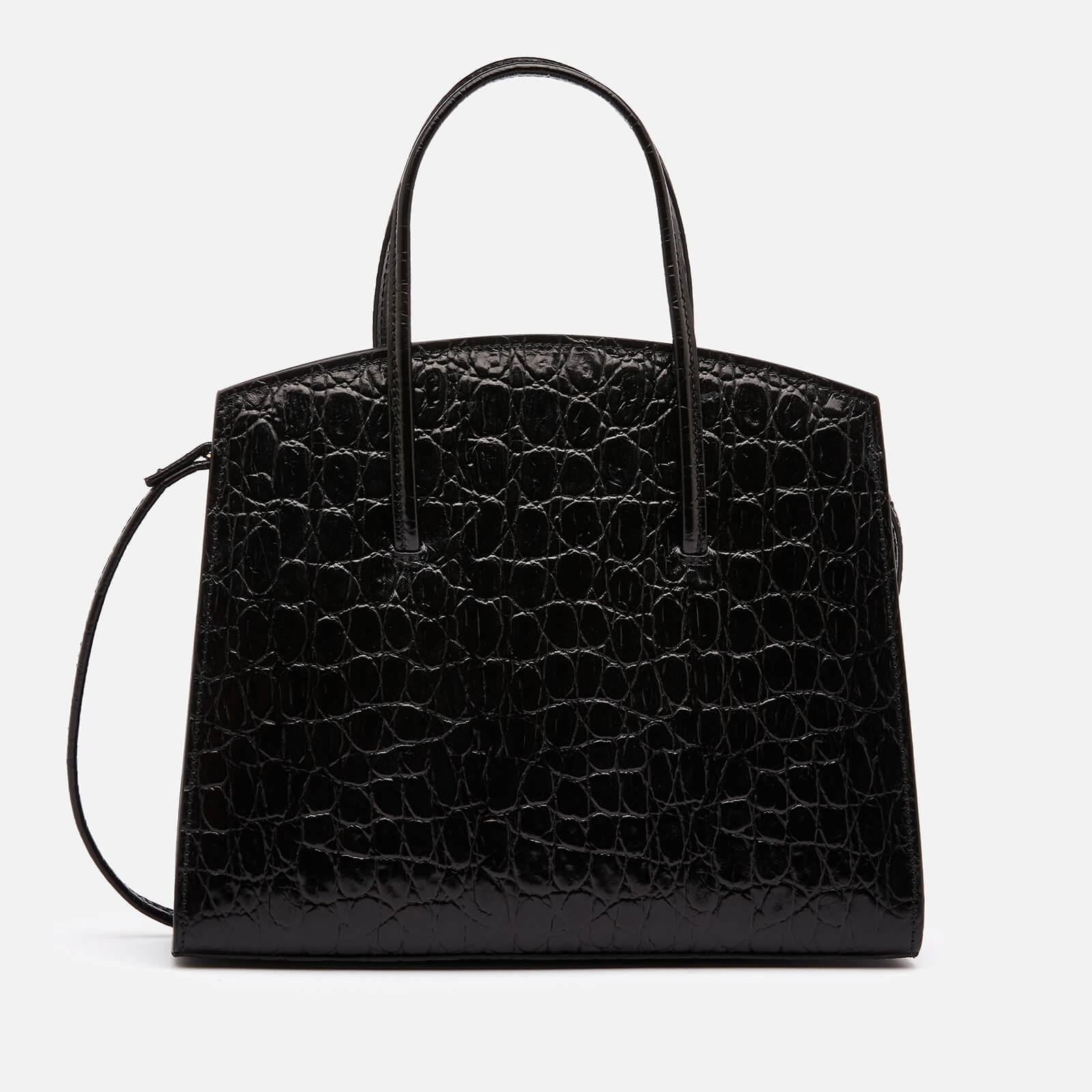 Little Liffner Women's Minimal Croc Mini Tote Bag - Black