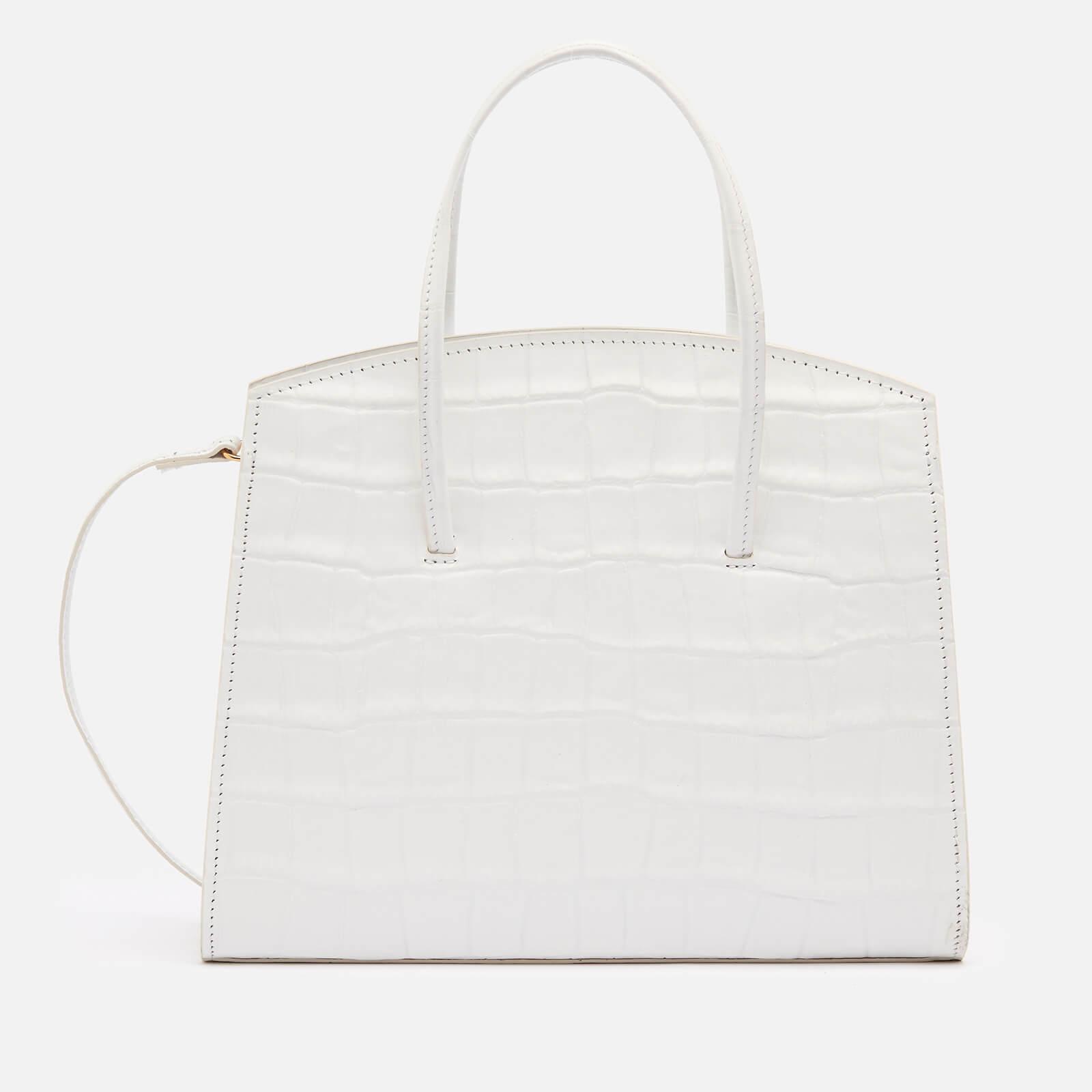 Little Liffner Women's Minimal Croc Mini Tote Bag - White