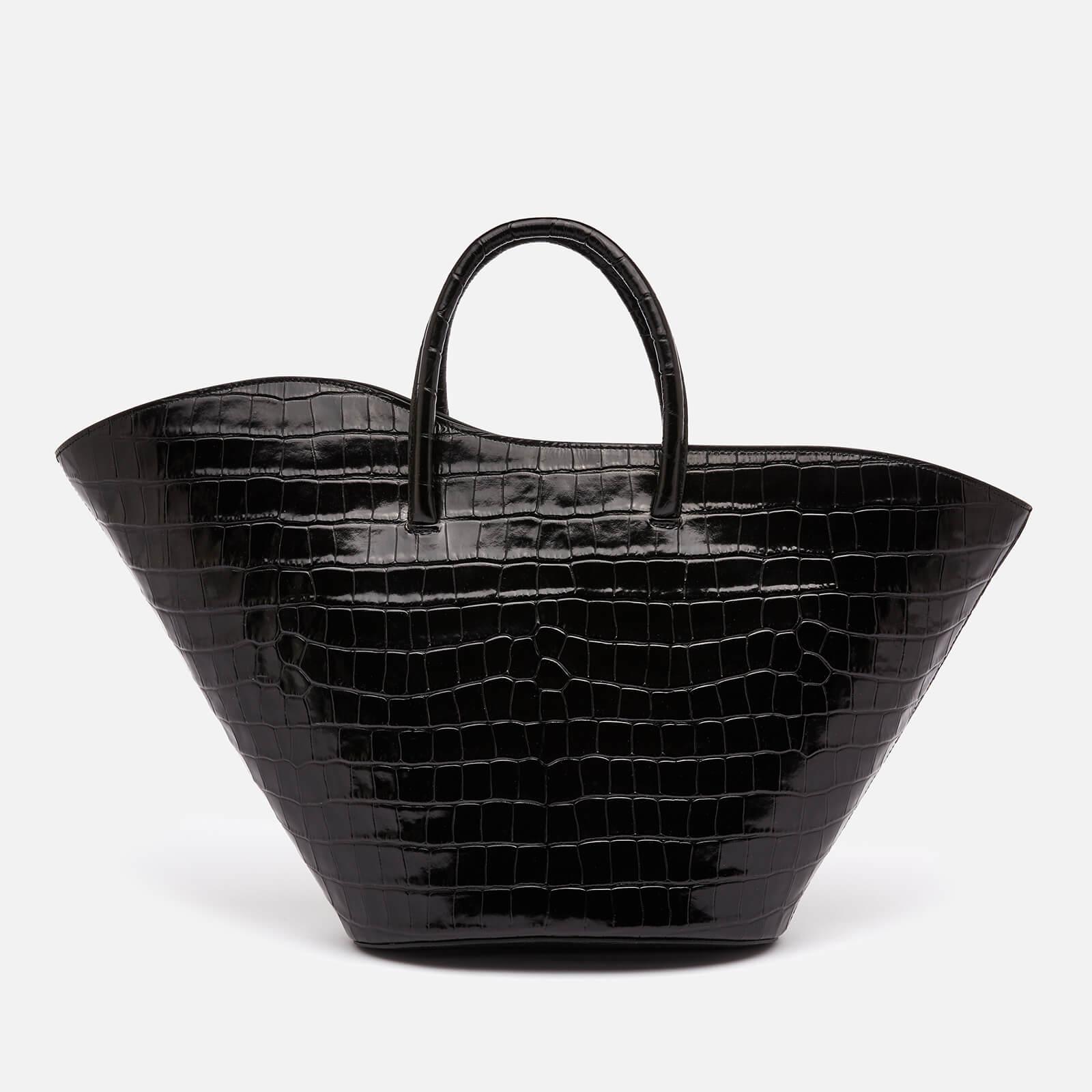 Little Liffner Women's Open Tulip Croc Medium Tote Bag - Black