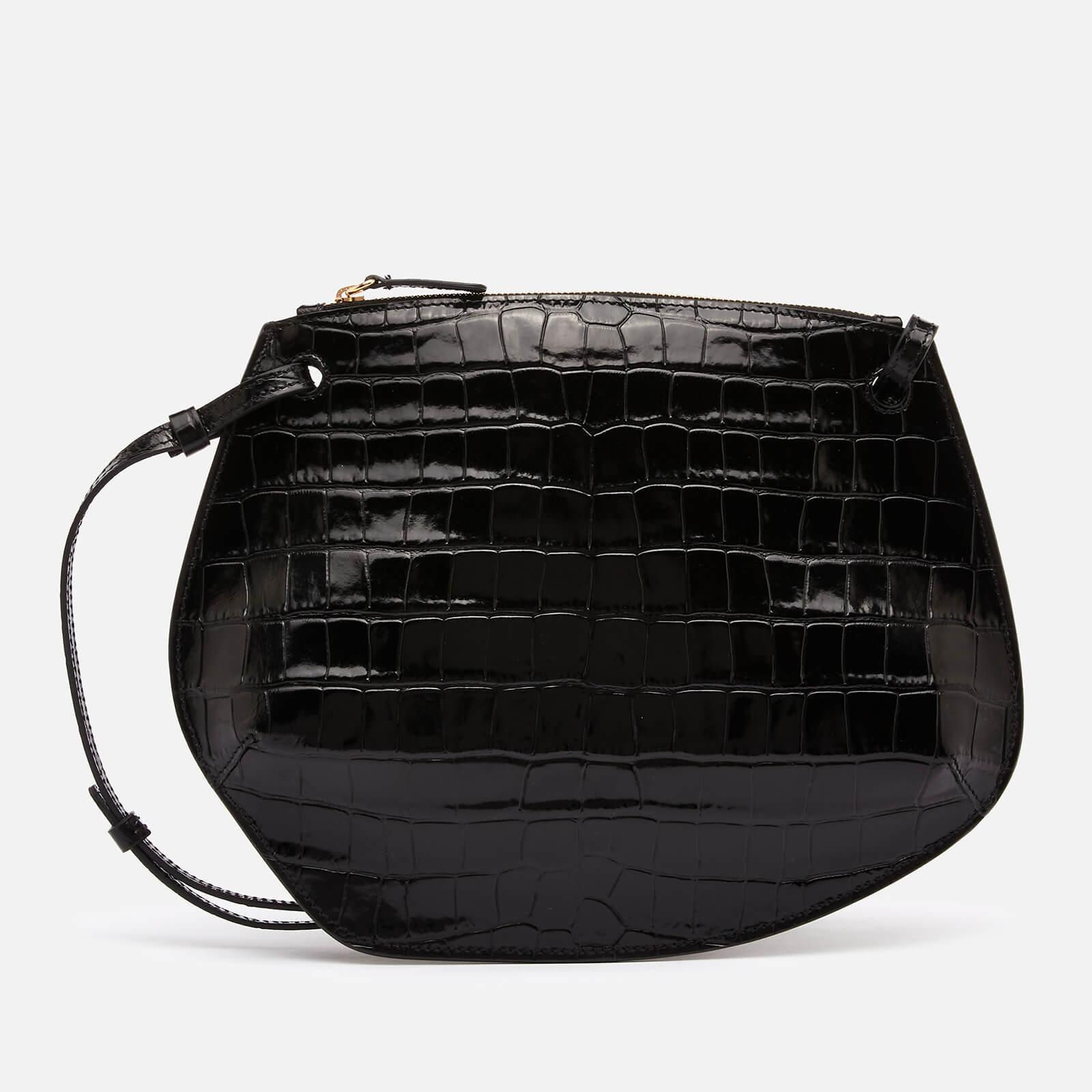 Little Liffner Women's Pebble Croc Cross Body Bag - Black
