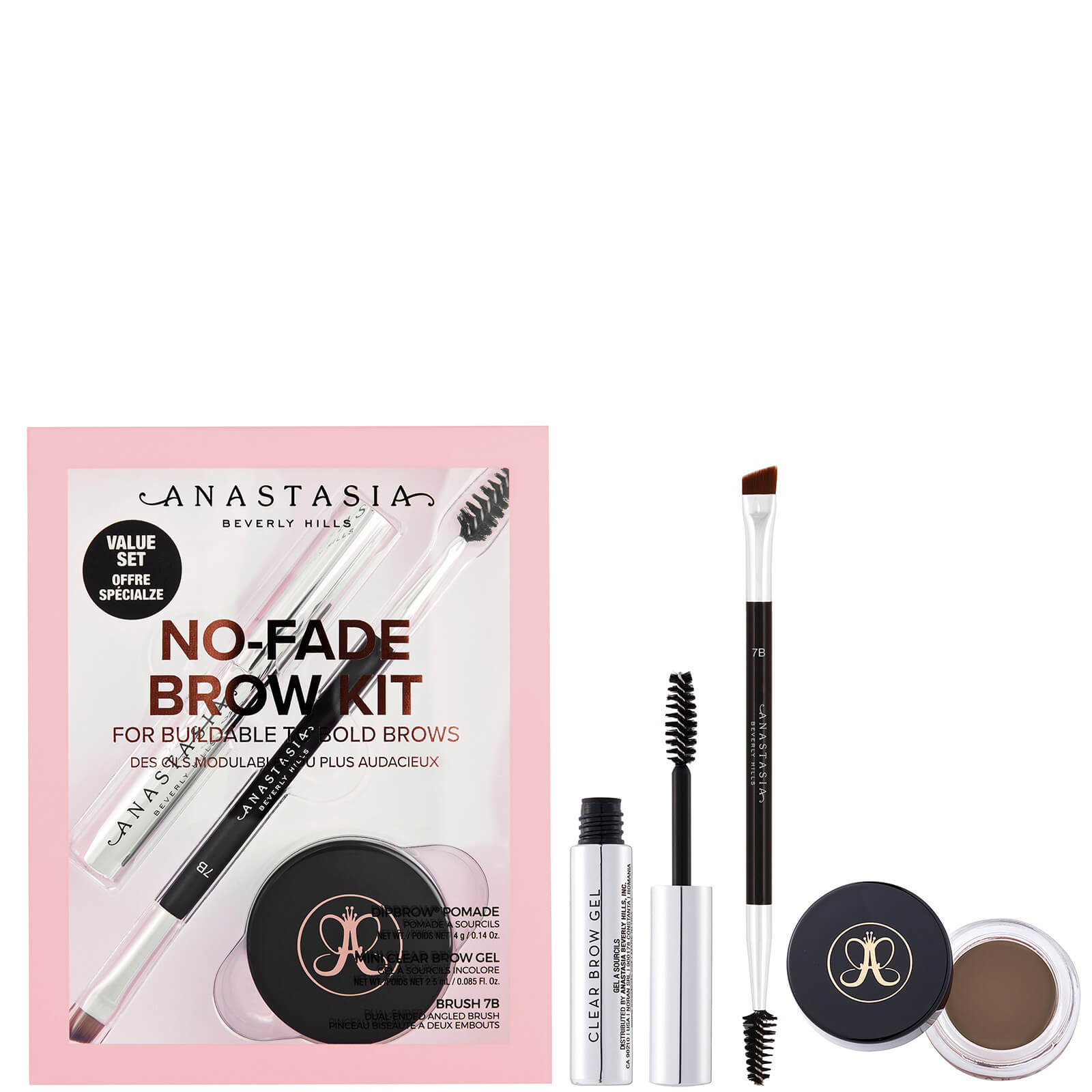 Anastasia Beverly Hills No-Fade Brow Kit 9.5g (Various Shades) - Soft Brown