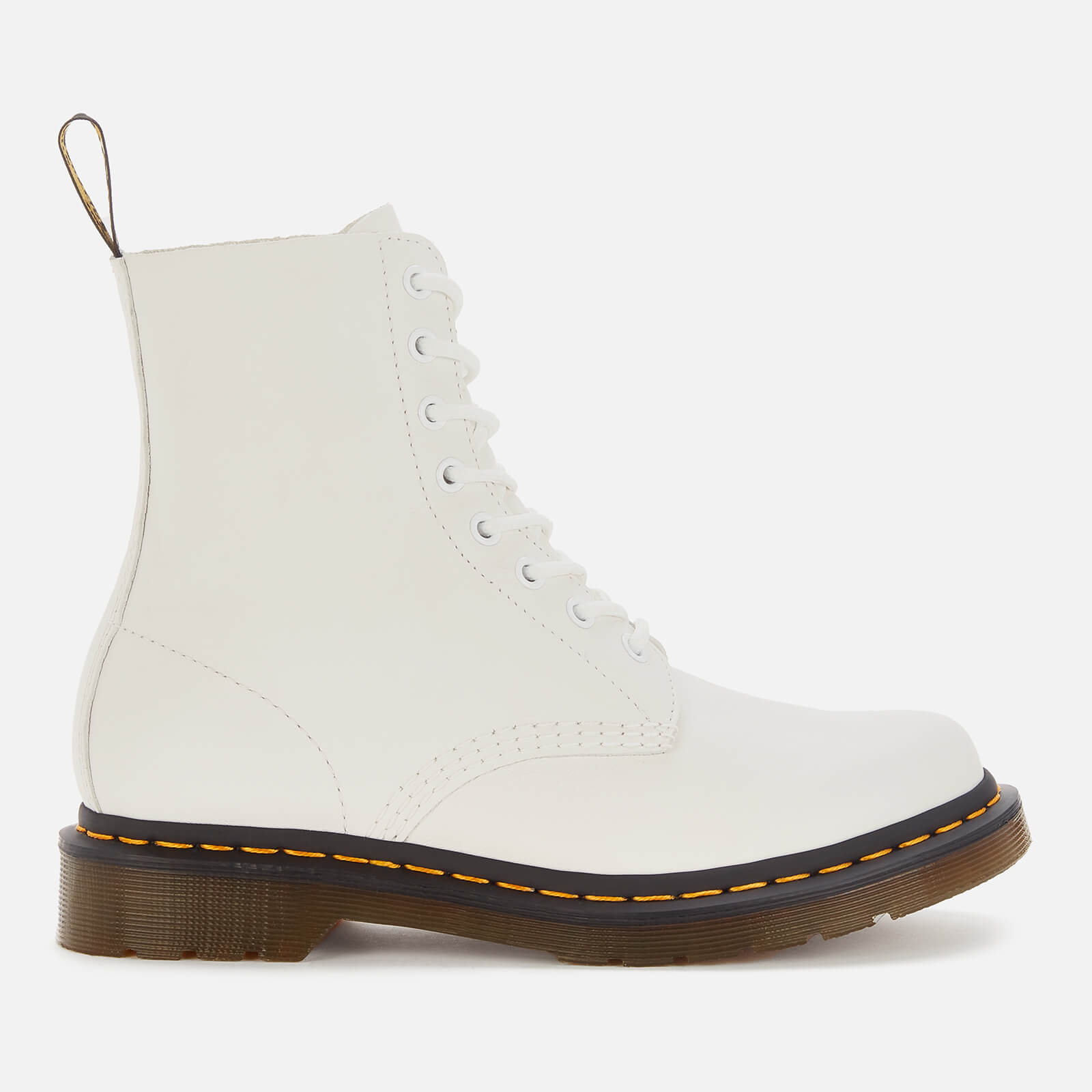 Dr. Martens Women's 1460 Pascal Virginia Leather 8-Eye Boots - Optical White - Uk 8